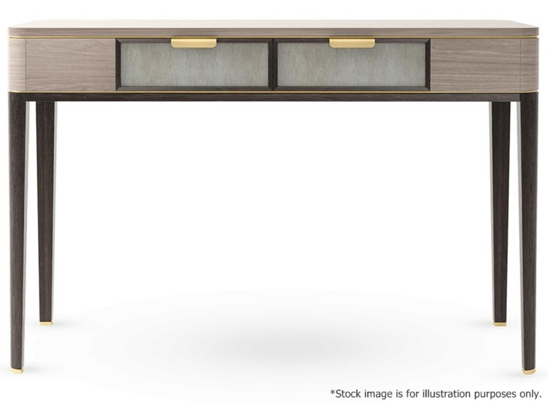 1 x FRATO 'Mandalay' Luxury Designer 2-Drawer Dresser Dressing Table In A Gloss Finish - RRP £4,300 - Image 5 of 17