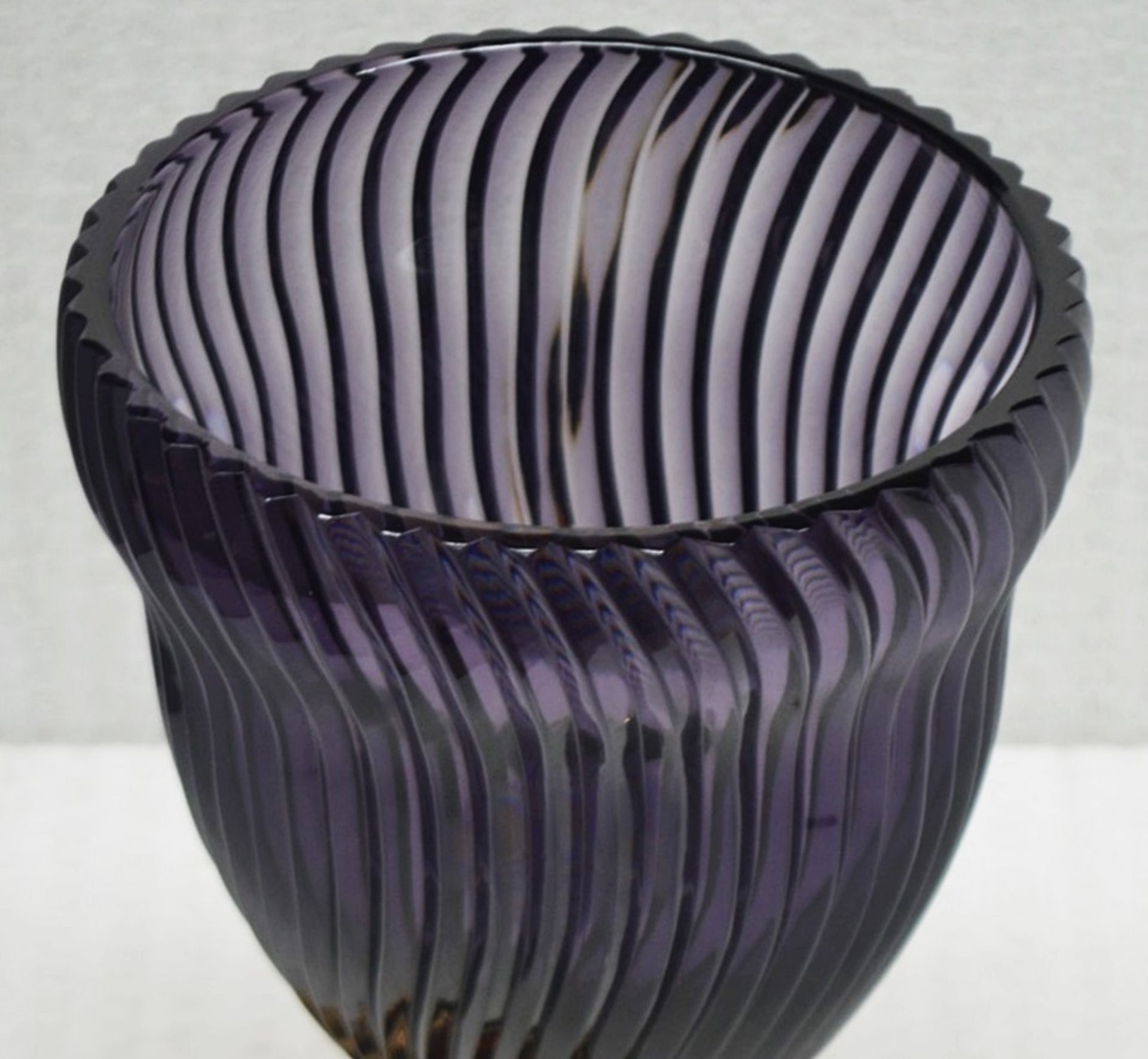 1 x BALDI 'Home Jewels' Italian Hand-crafted Artisan GHIAHDA VASE In Violet Crystal - RRP £1,925 - Image 5 of 5