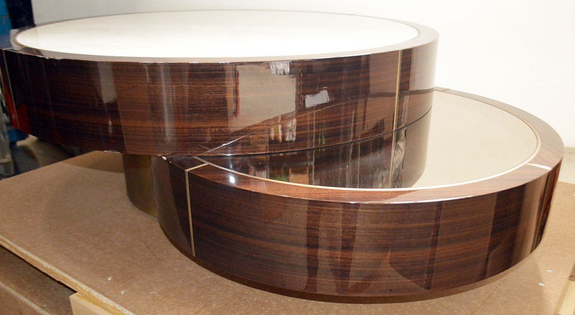 1 x FRATO 'Aarhus' Luxury Coffee Table Topped With Marble With High Gloss Finish - RRP £6,611 - Image 9 of 9