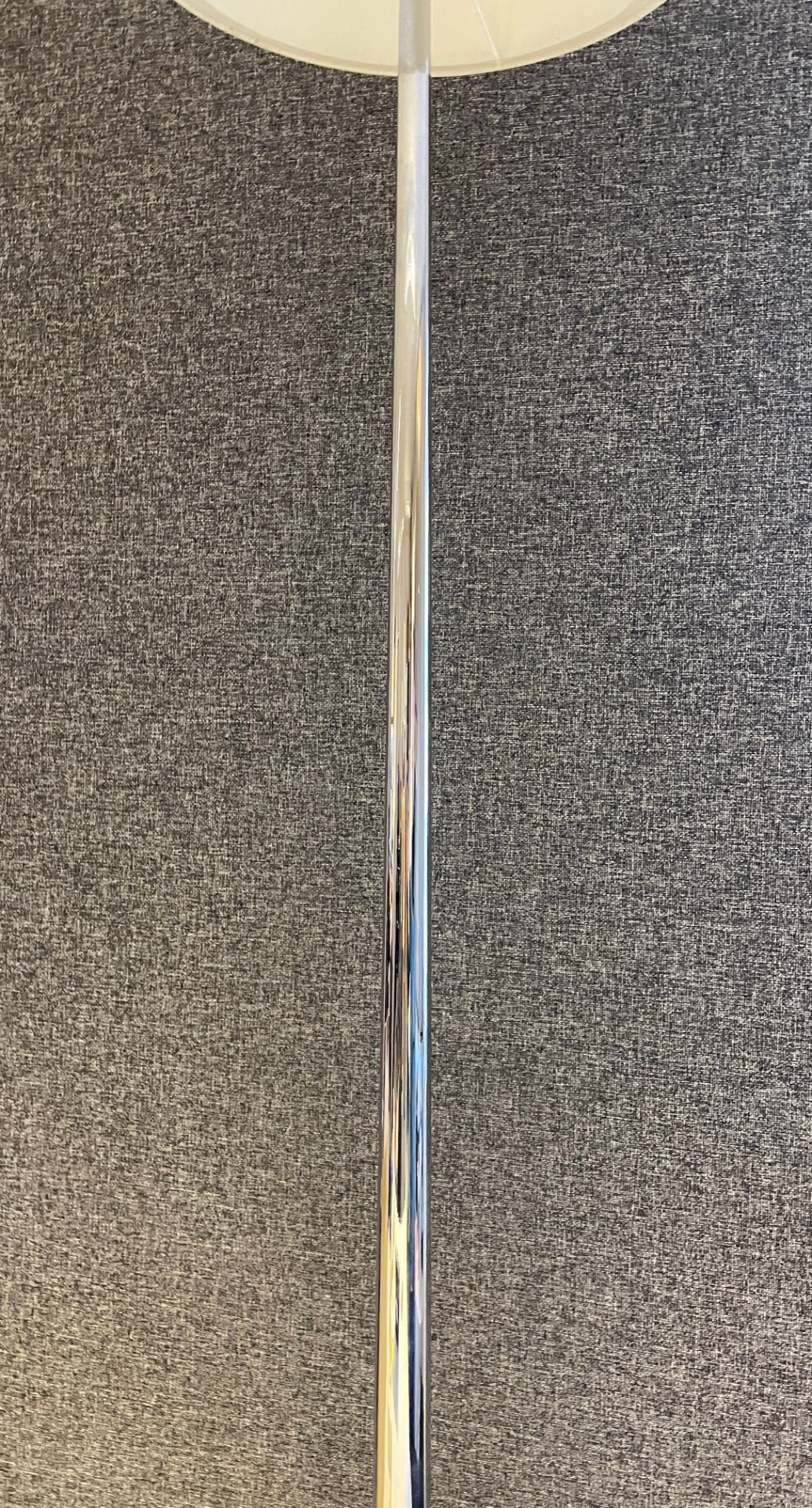 1 x Chelsom Polished Chrome Stem Floor Lamp height 155cm with Cream 31cm round shade - Ref: CHL198 - Image 10 of 10
