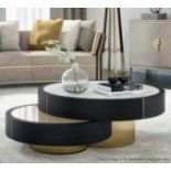 1 x FRATO 'Aarhus' Luxury Coffee Table Topped With Marble With High Gloss Finish - RRP £6,611