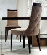 4 x GIORGIO Coliseum Velvet Upholstered Button Back Side Chairs With A Brazilian Rosewood Finish -