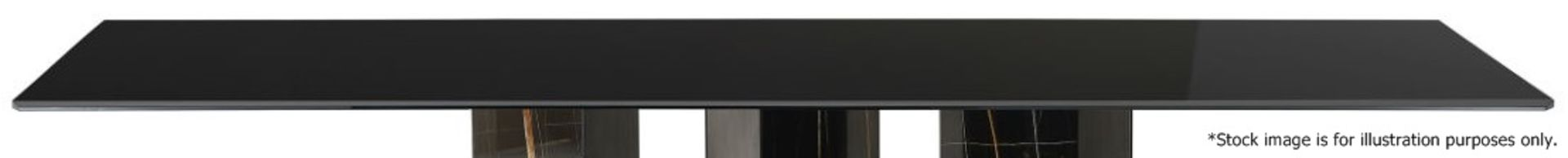 1 x GALLOTTI & RADICE 'Platinum' Italian Made Tinted Glass Table Top *No Base* - Dimensions: To - Image 3 of 3