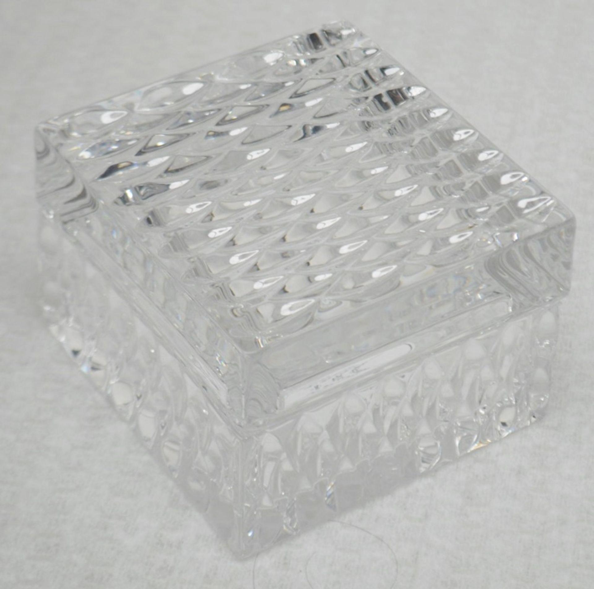 1 x BALDI 'Home Jewels' Italian Hand-crafted Artisan Clear Diamond Crystal Perfume Box, With A
