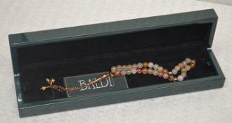 1 x BALDI 'Home Jewels' Italian Hand-crafted Artisan MISBAHA Prayer Beads In Cornelian Gemstone