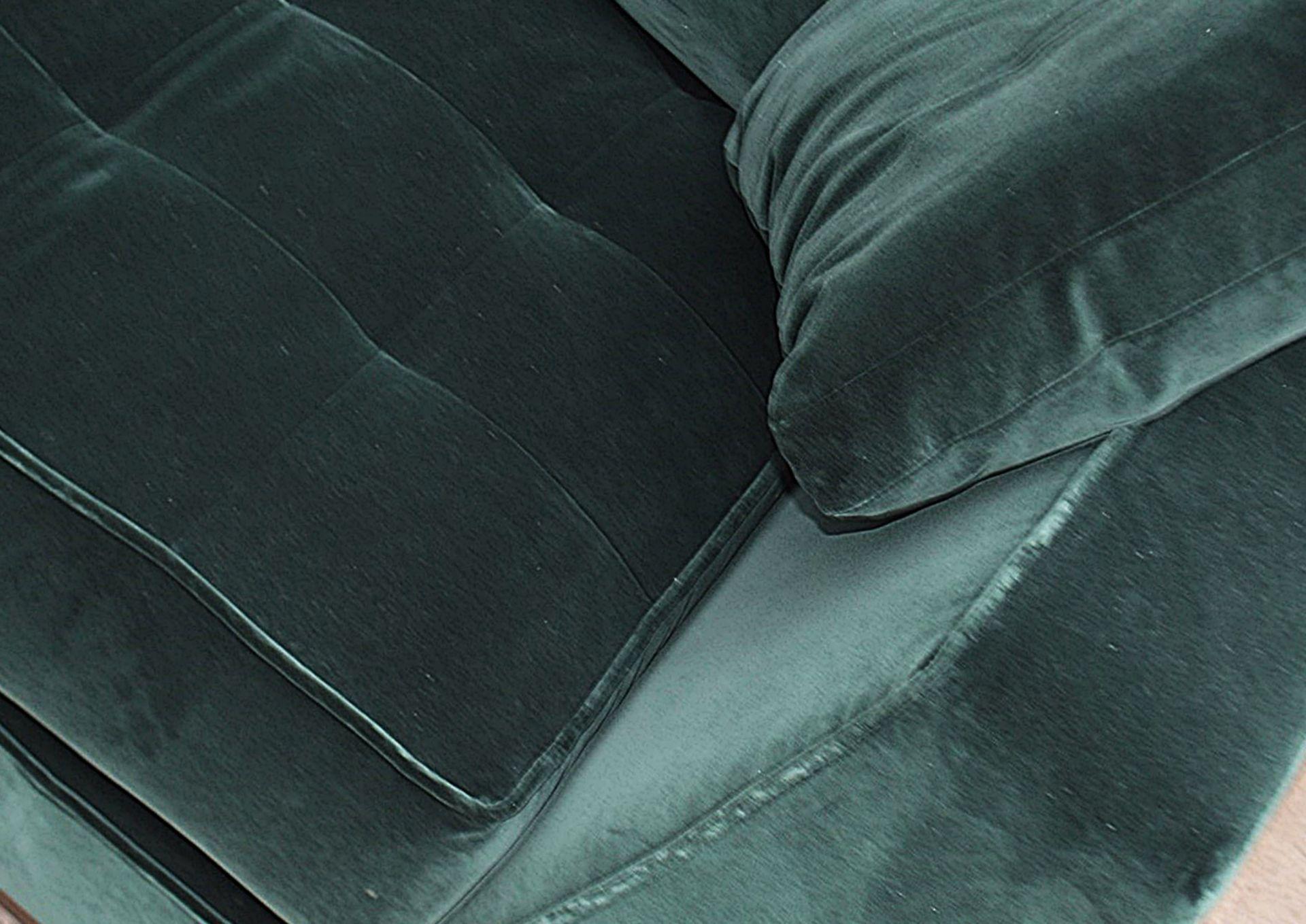 2 x B&B Italia MAXALTO Luxury Sofa Sections Both Upholstered In Rich Dark Green Velvet - RRP £7,248 - Image 10 of 13