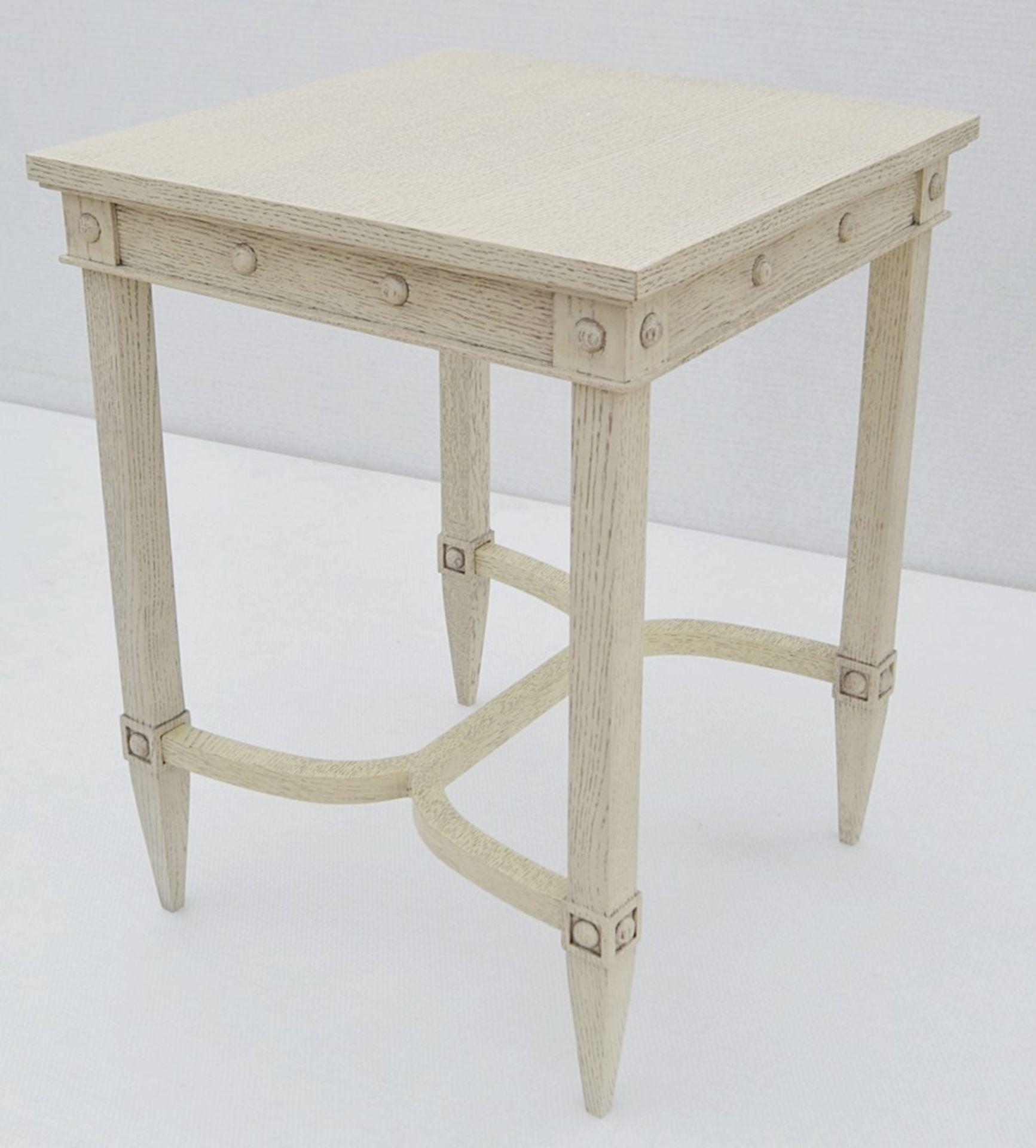 1 x JUSTIN VAN BREDA 'Thomas' Designer Georgian-inspired Table In Limed Grey Oak - RRP £1,320 - Image 4 of 6