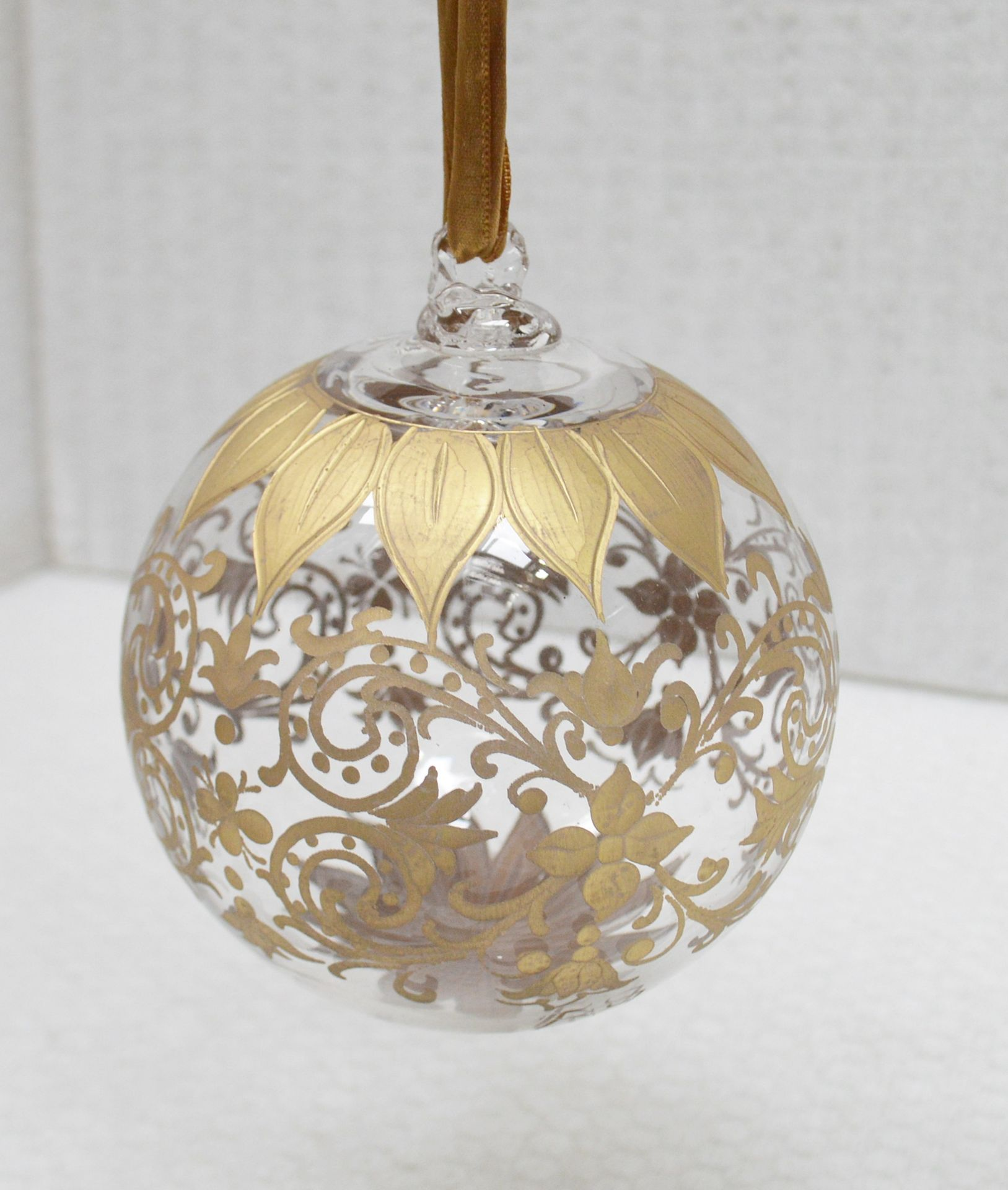 1 x BALDI 'Home Jewels' Italian Hand-crafted Artisan Christmas Tree Decoration In Gold - RRP £124.00