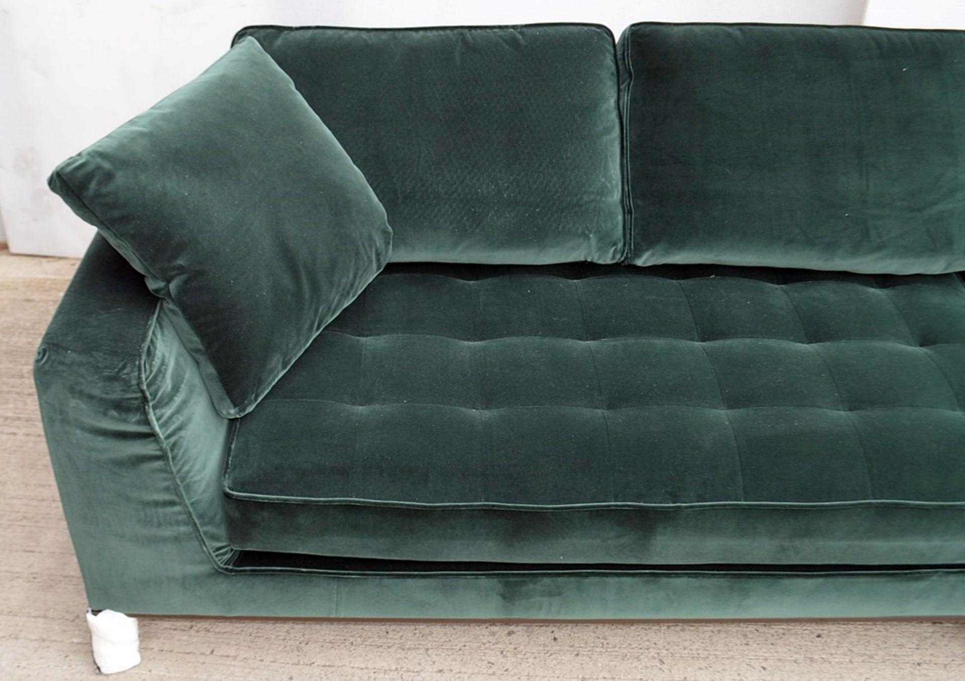 2 x B&B Italia MAXALTO Luxury Sofa Sections Both Upholstered In Rich Dark Green Velvet - RRP £7,248 - Image 8 of 13