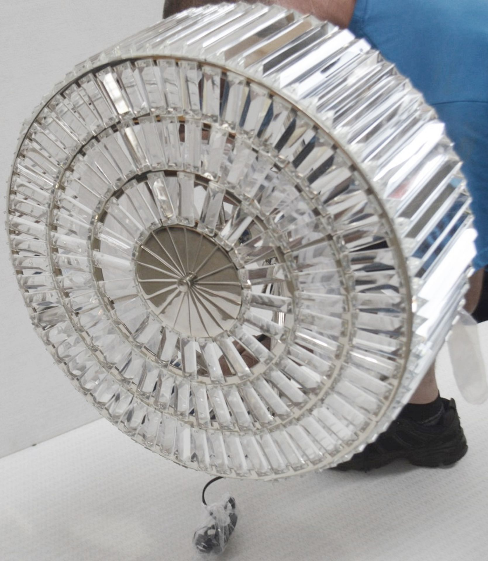 1 x EICHHOLTZ 'Infinity' Art Deco-style Chandelier Featuring Glass Crystal Rods - RRP £1,390 - Image 8 of 10