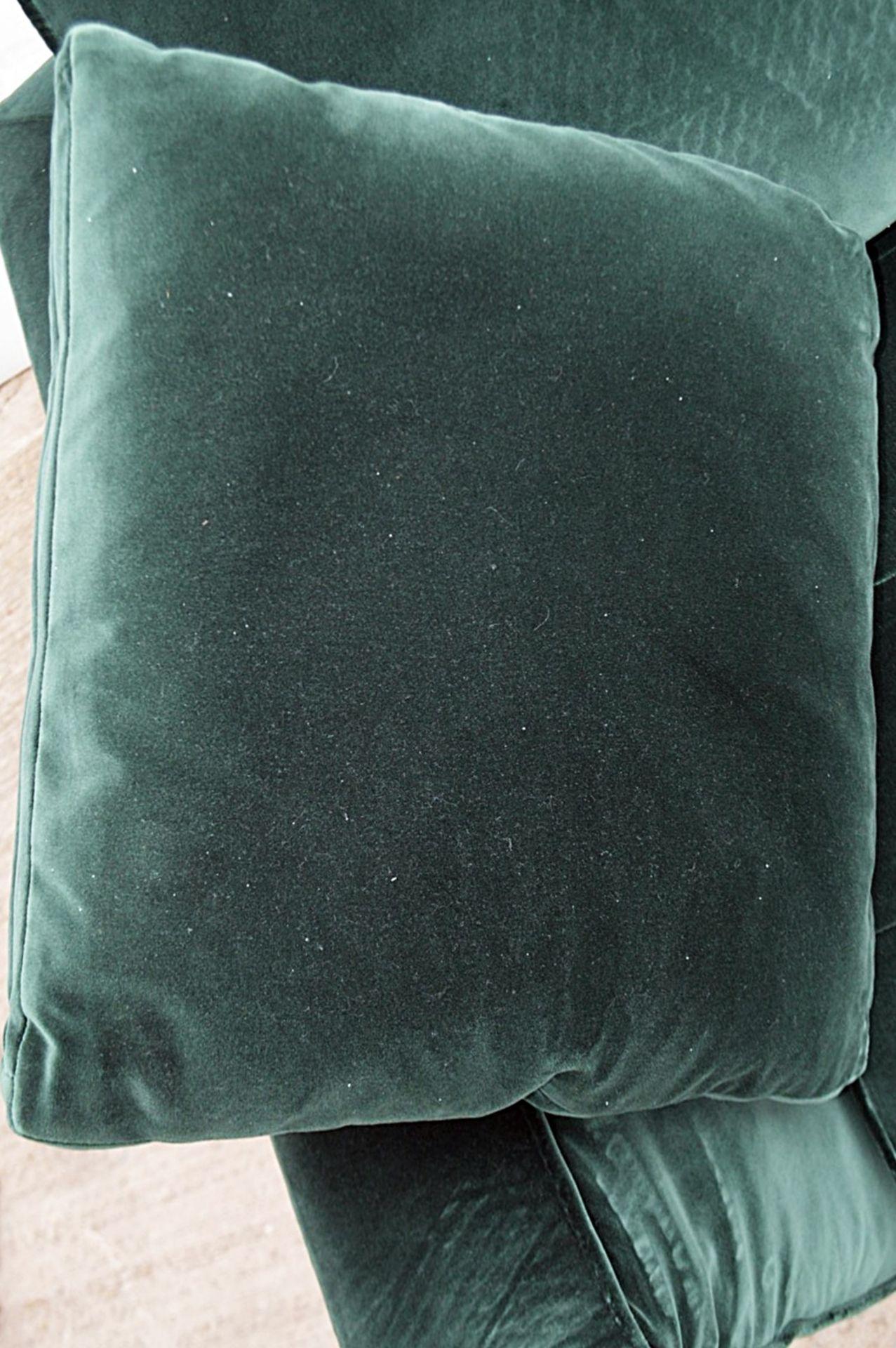 2 x B&B Italia MAXALTO Luxury Sofa Sections Both Upholstered In Rich Dark Green Velvet - RRP £7,248 - Image 13 of 13