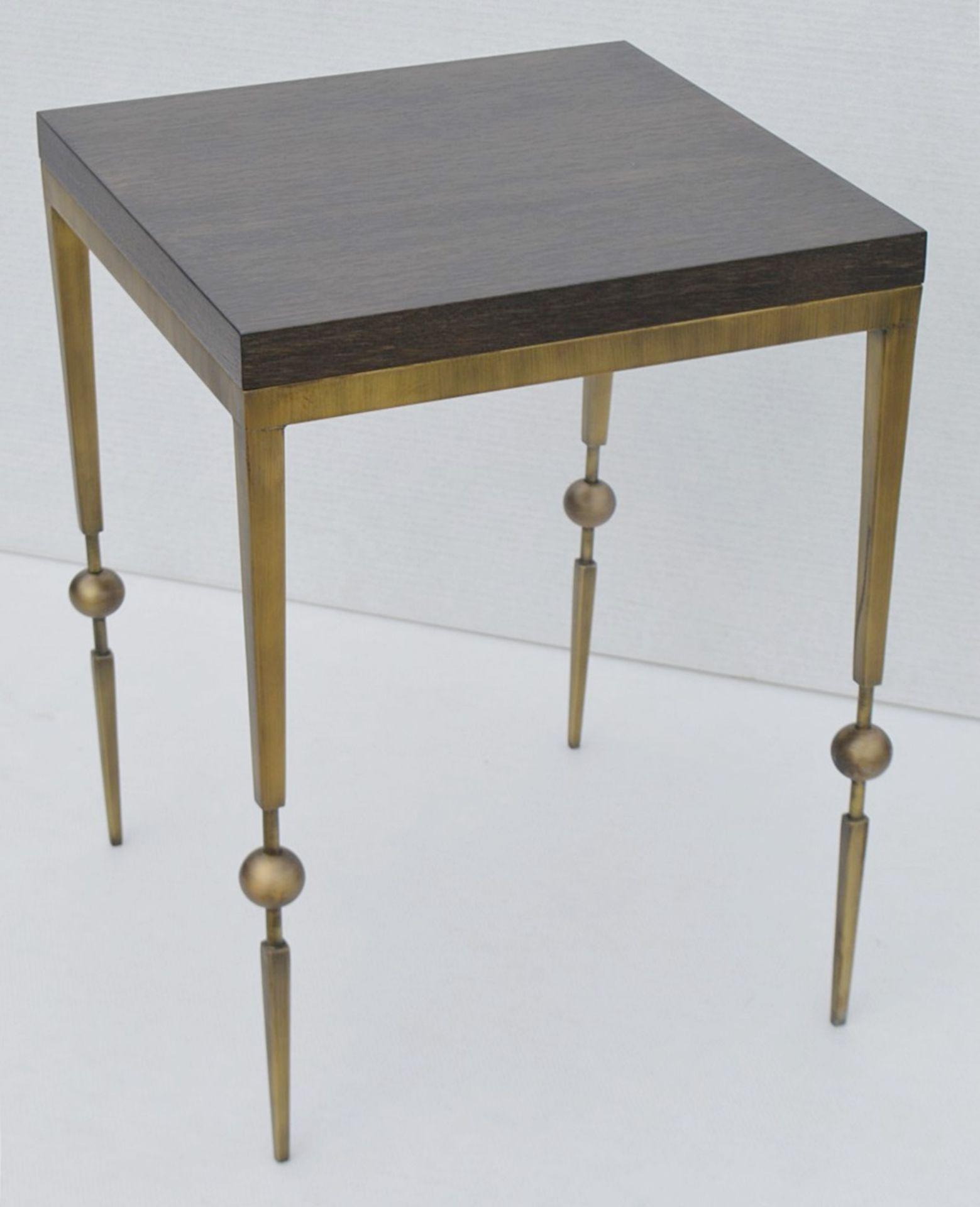 1 x JUSTIN VAN BREDA 'Sphere' Designer Occasional Table - Dimensions: H70 x W52 x D52cm - Ref: