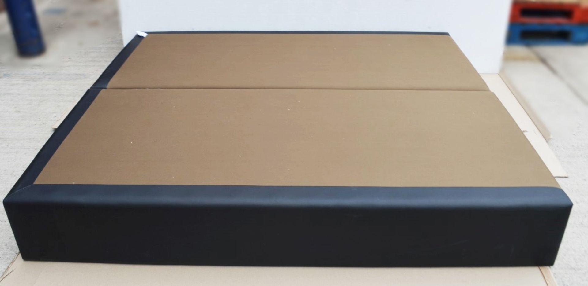 1 x COLUNEX 'Elite' Super Kingsize Divan Bed Base Upholstered In A Grey Leather - RRP £3,008 - Image 3 of 8