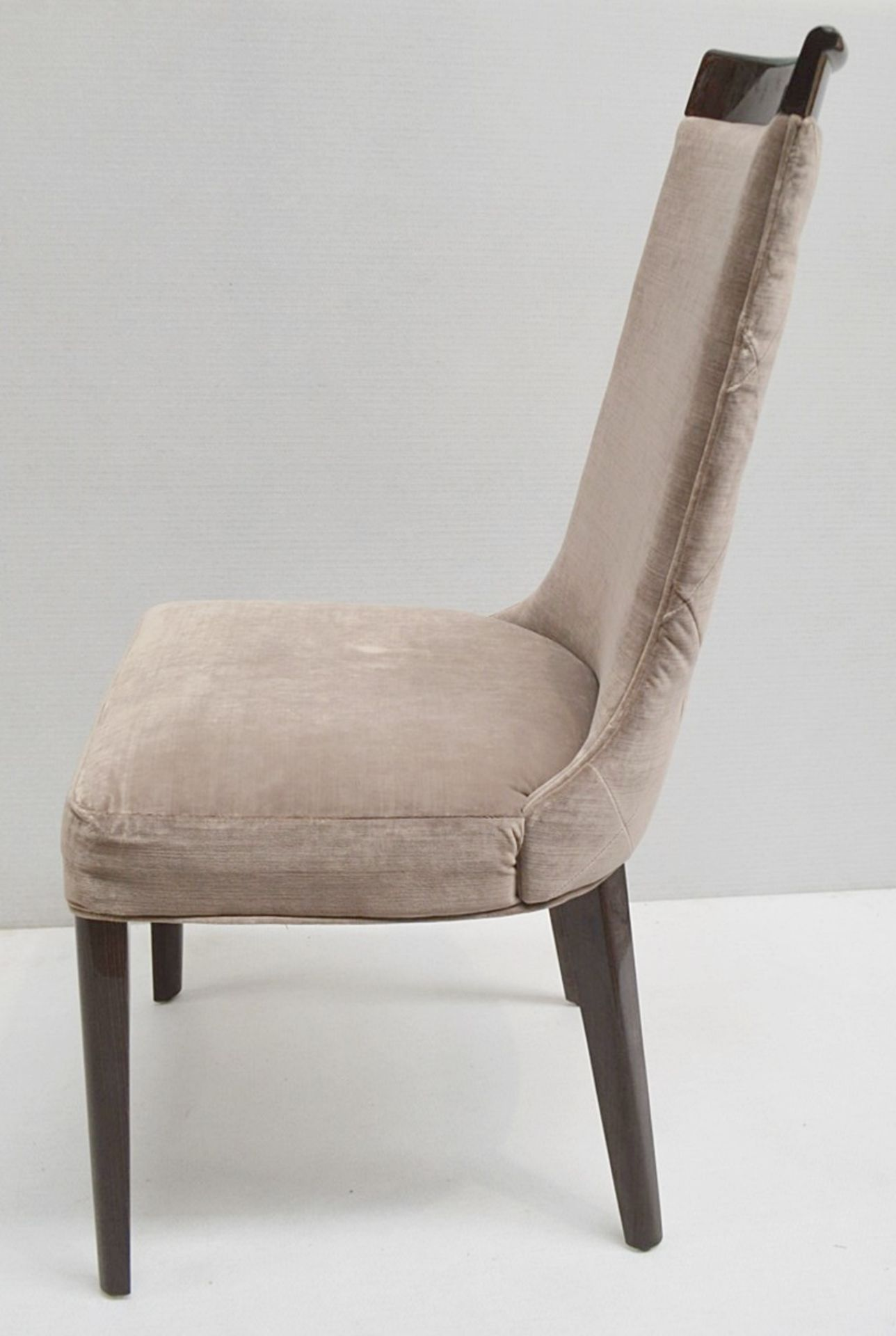 4 x GIORGIO Coliseum Velvet Upholstered Button Back Side Chairs With A Brazilian Rosewood Finish - - Image 2 of 11
