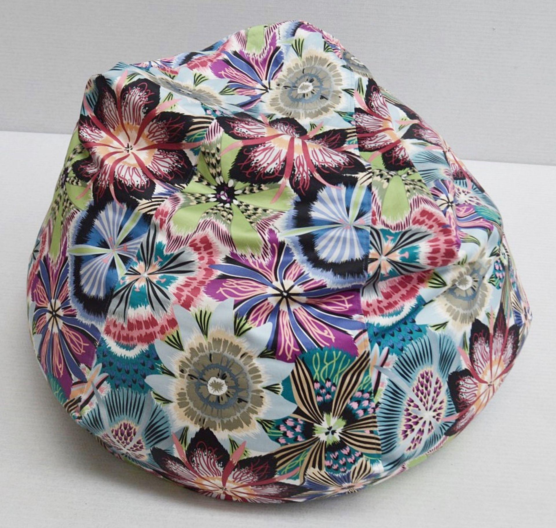 1 x Large Bean Bag Chair In 'Missoni Passiflora' Fabric - Dimensions Height 100 x Diameter 70cm