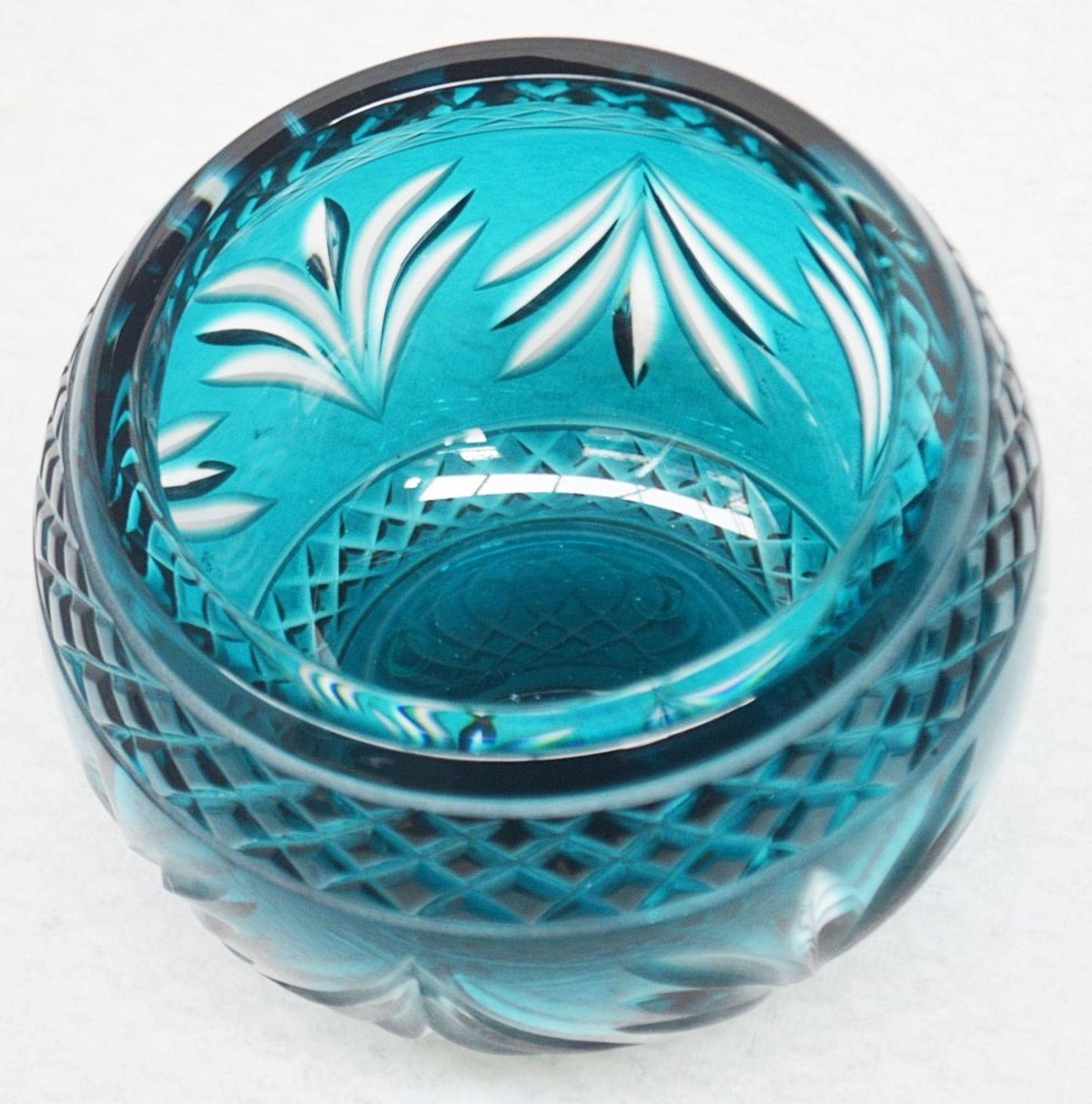 1 x BALDI 'Home Jewels' Italian Hand-crafted Artisan Crystal Coccinella Box In Turquoise - RRP £900 - Image 2 of 5