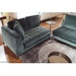 2 x B&B Italia MAXALTO Luxury Sofa Sections Both Upholstered In Rich Dark Green Velvet - RRP £7,248