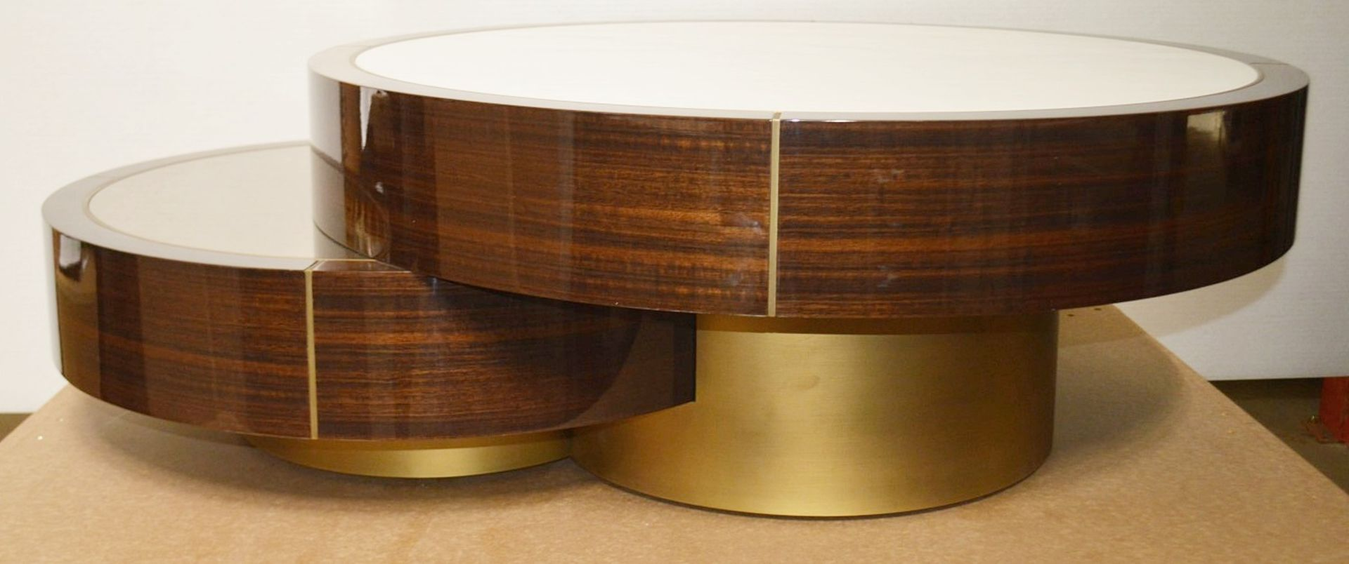 1 x FRATO 'Aarhus' Luxury Coffee Table Topped With Marble With High Gloss Finish - RRP £6,611 - Image 3 of 9