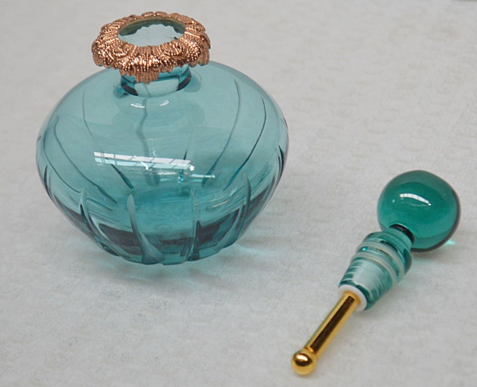 1 x BALDI 'Home Jewels' Italian Hand-crafted Artisan Ottanio Crystal Perfume Bottle & Stick - - Image 3 of 6