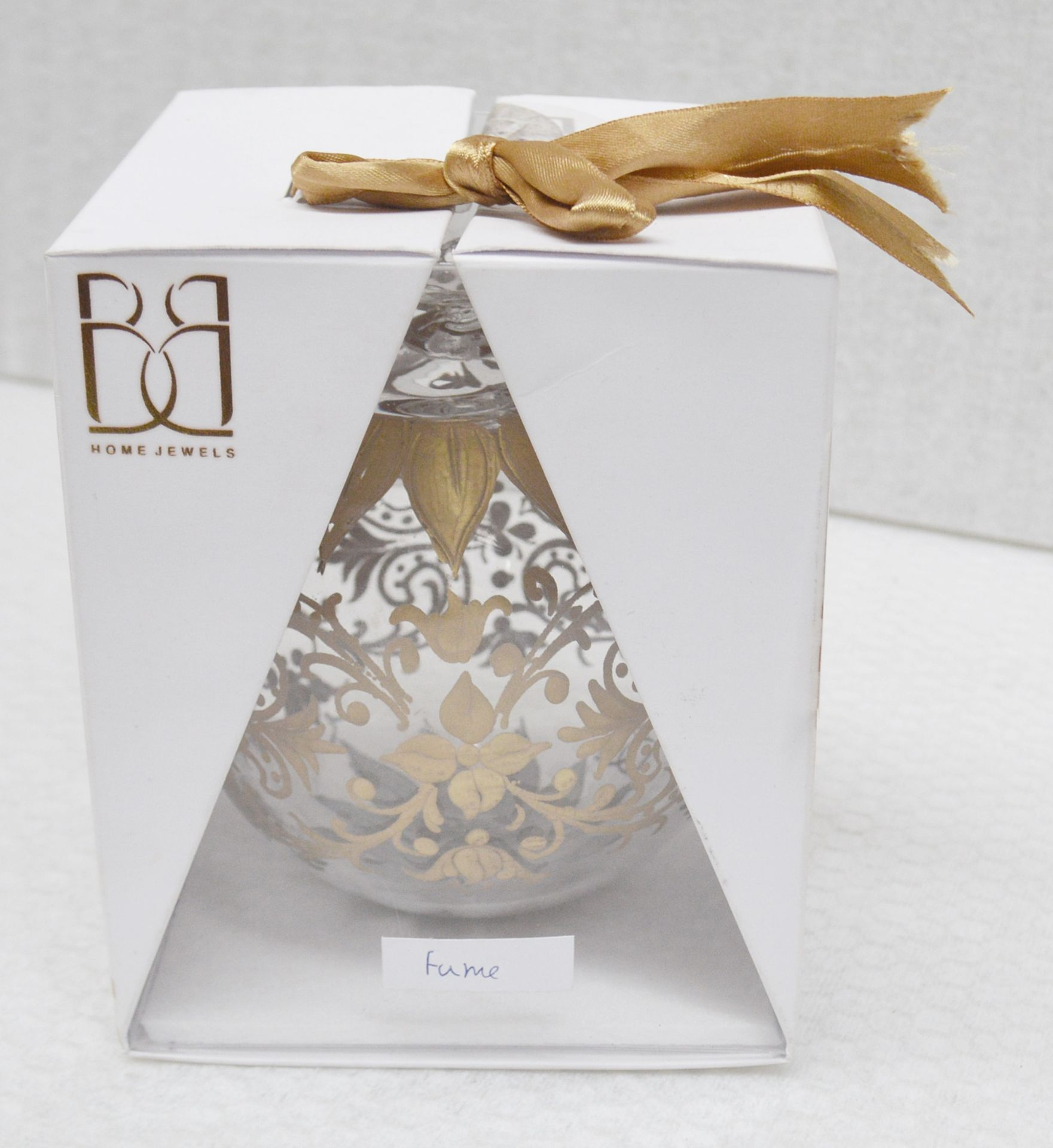 1 x BALDI 'Home Jewels' Italian Hand-crafted Artisan Christmas Tree Decoration In Gold - Dimensions:
