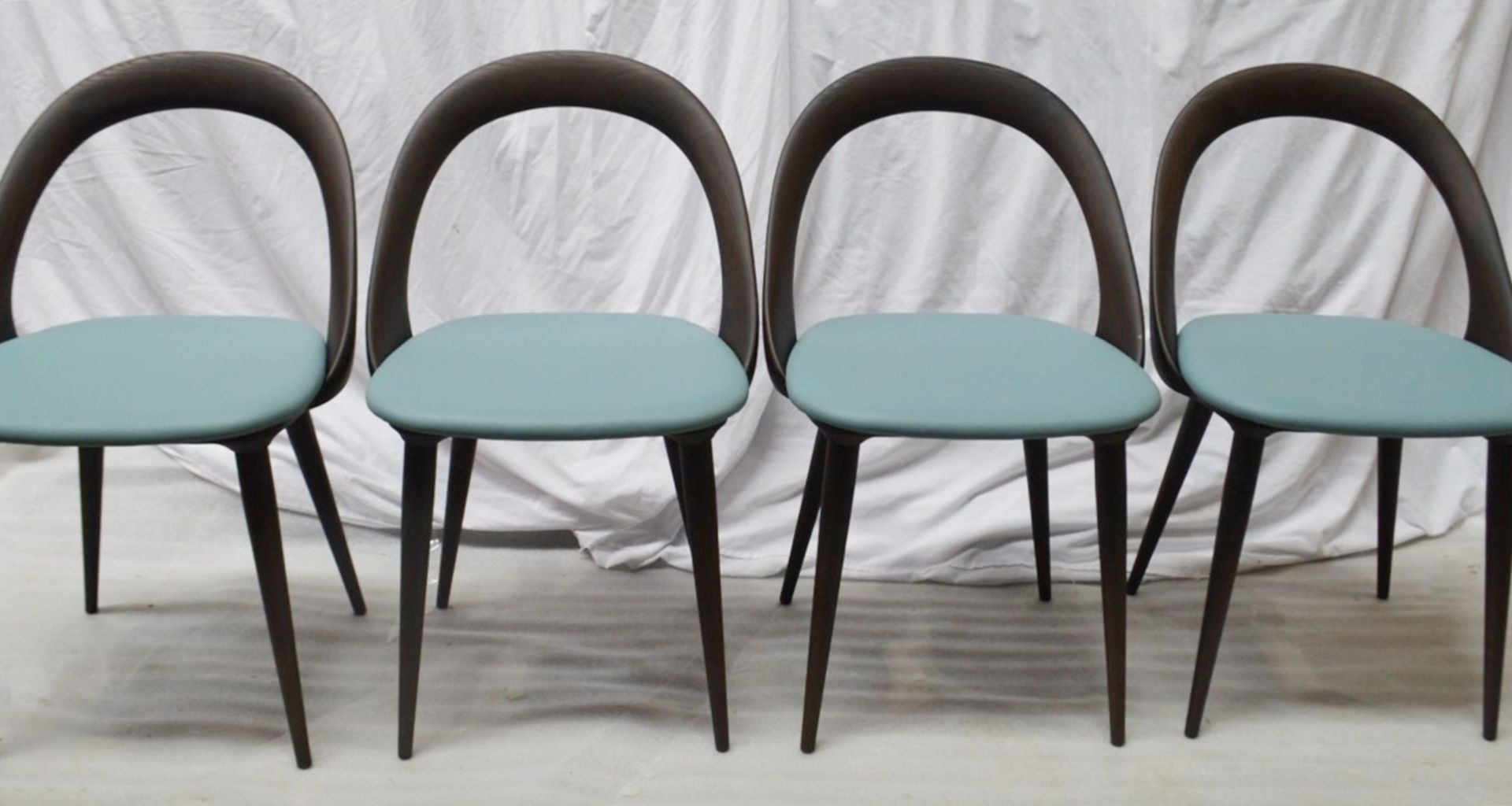 Set Of 4 x PORADA 'Ester' Italian Designer Dining Chairs Featuring Leather Seats - RRP £5,120 - Image 5 of 11