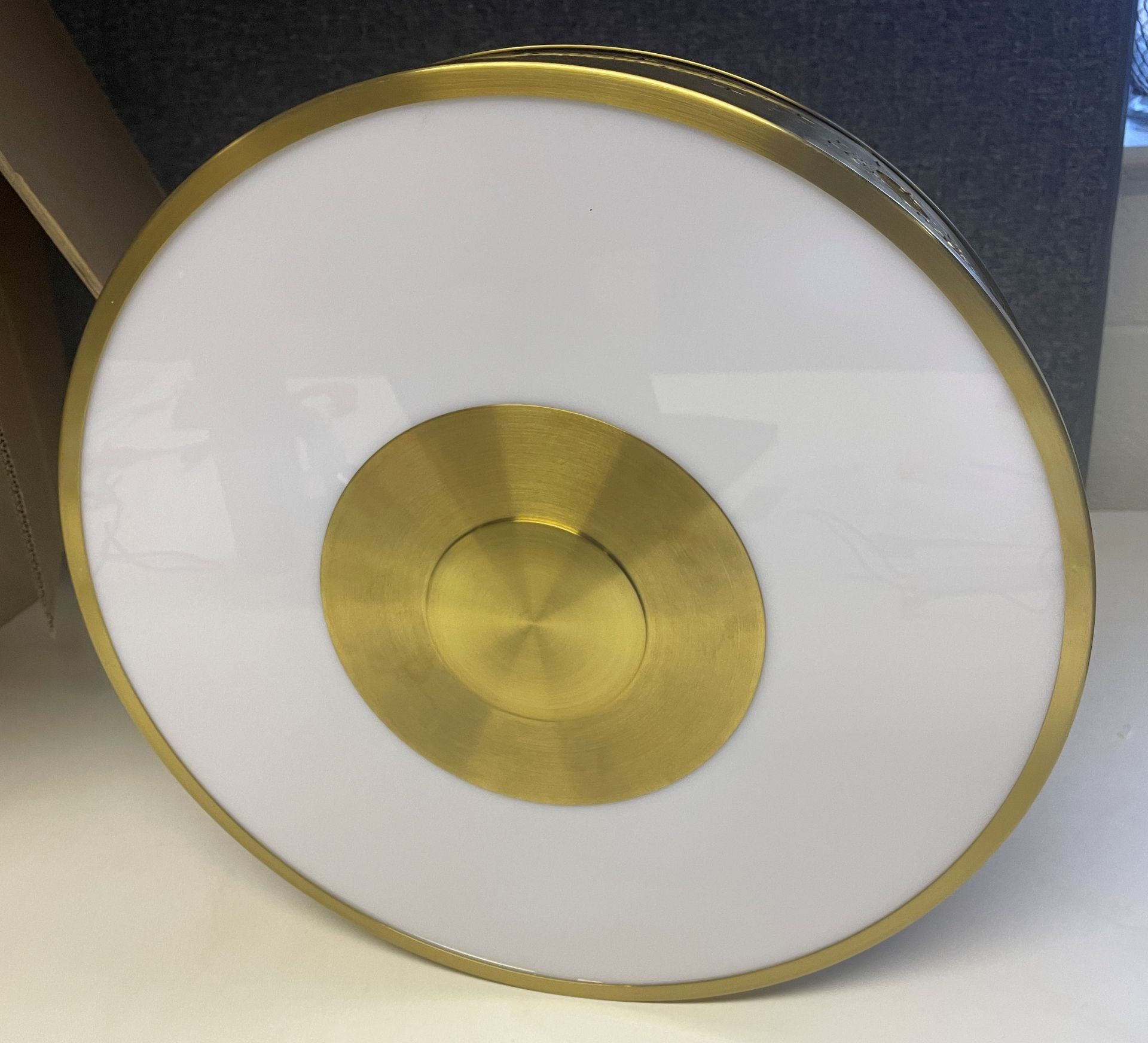 1 x Chelsom 'Disney' New Build Brushed Brass Ceiling Arcade Pendent Light Fitting - Sample we under - Image 12 of 14