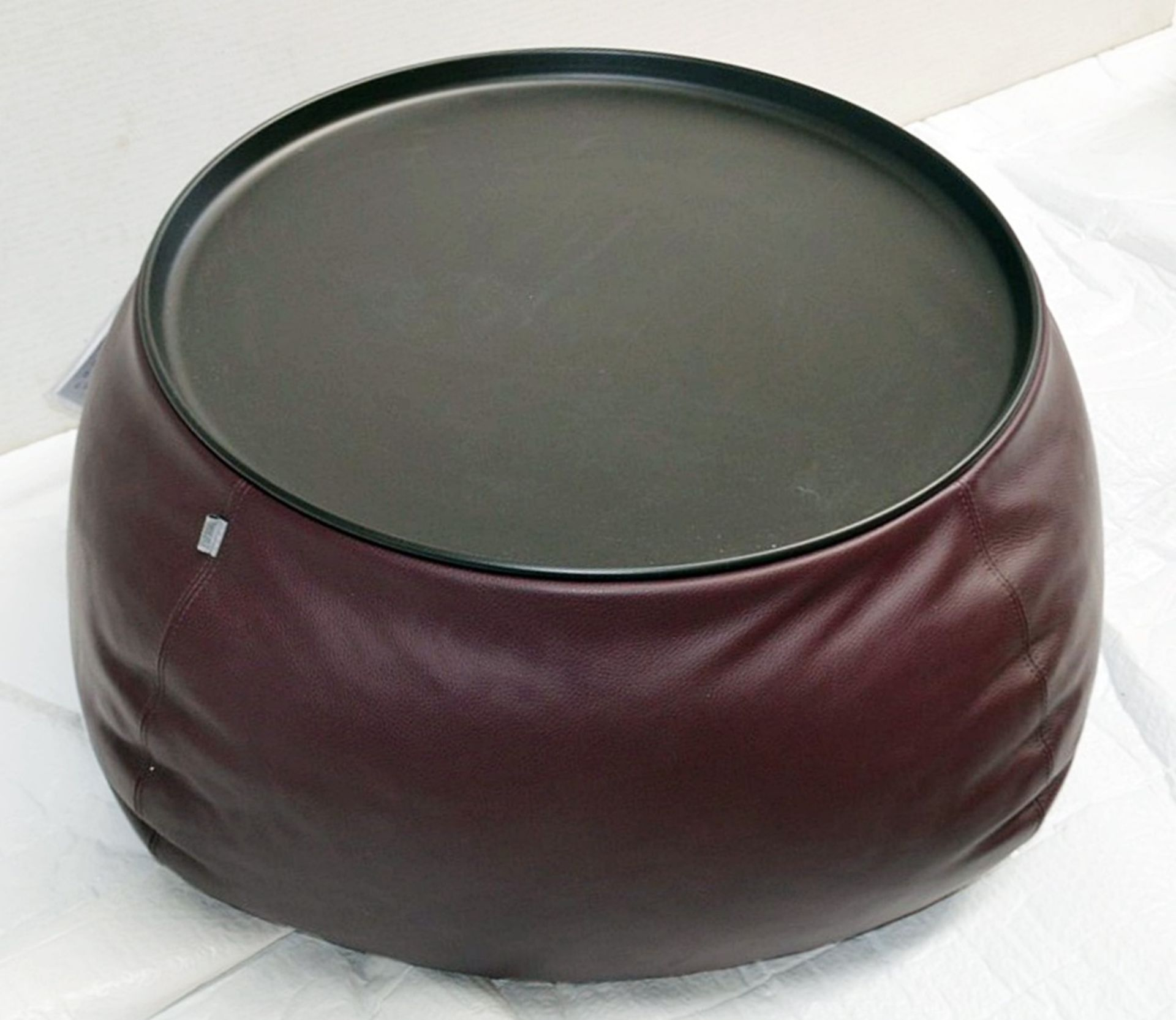 1 x B&B ITALIA 'Fat Fat' Lady Fat Low Coffee Table Upholstered In Genuine Leather - RRP £1,706