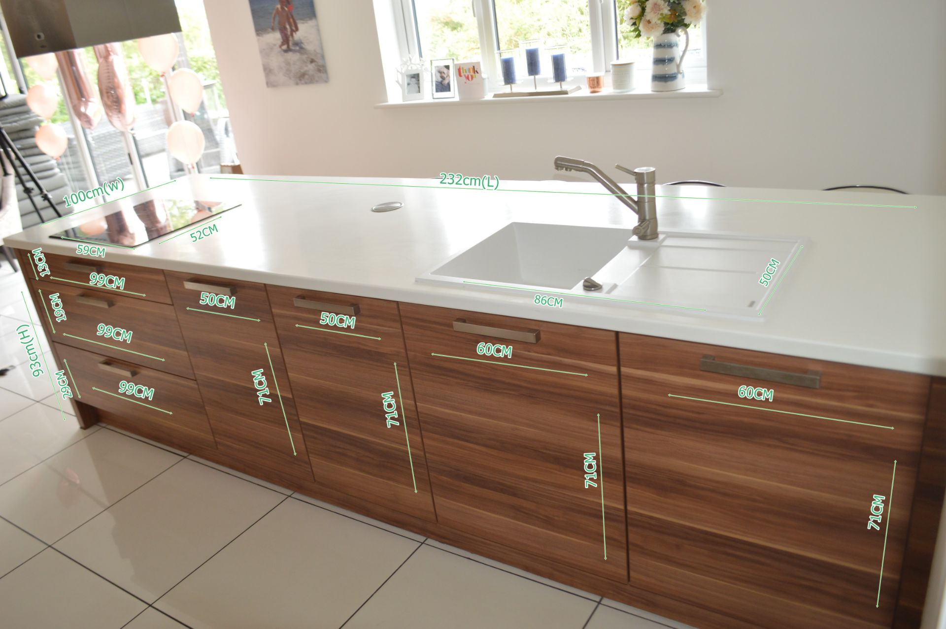 1 x Contemporary Bespoke Fitted Kitchen With Integrated Neff Branded Appliances, Quartz Worktops - Image 11 of 52