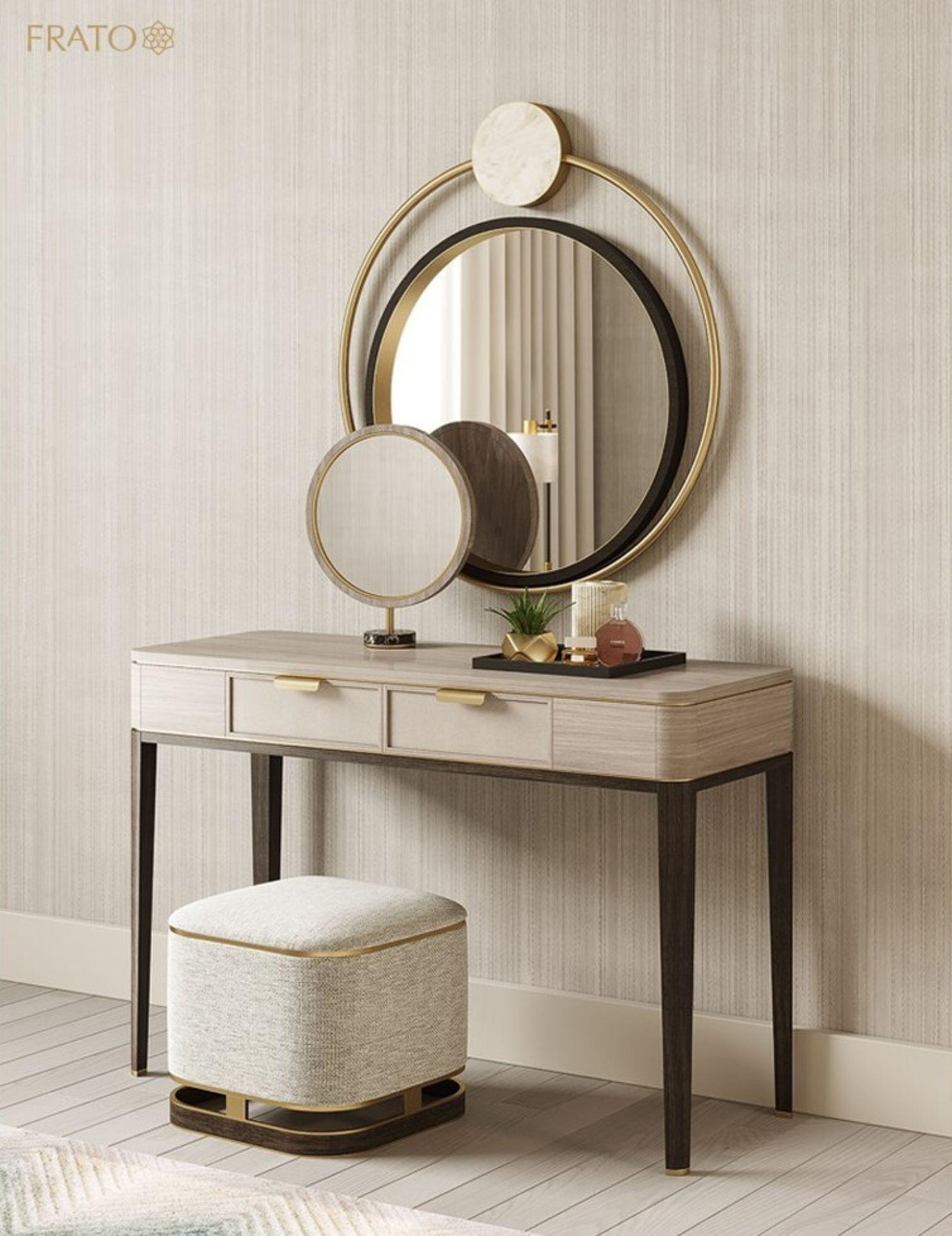 1 x FRATO 'Mandalay' Luxury Designer 2-Drawer Dresser Dressing Table In A Gloss Finish - RRP £4,300