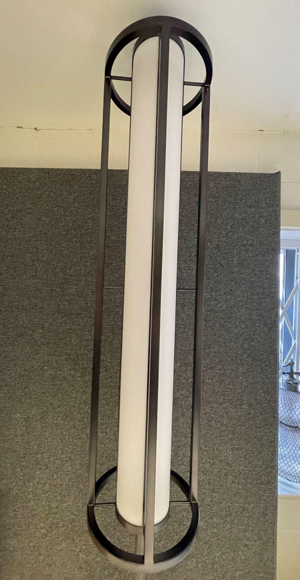 1 x Chelsom Art Deco Style Floor Lamp in Black/Bronze Height 161cm x 30cm Diameter - Ref: CHL197 - - Image 9 of 10