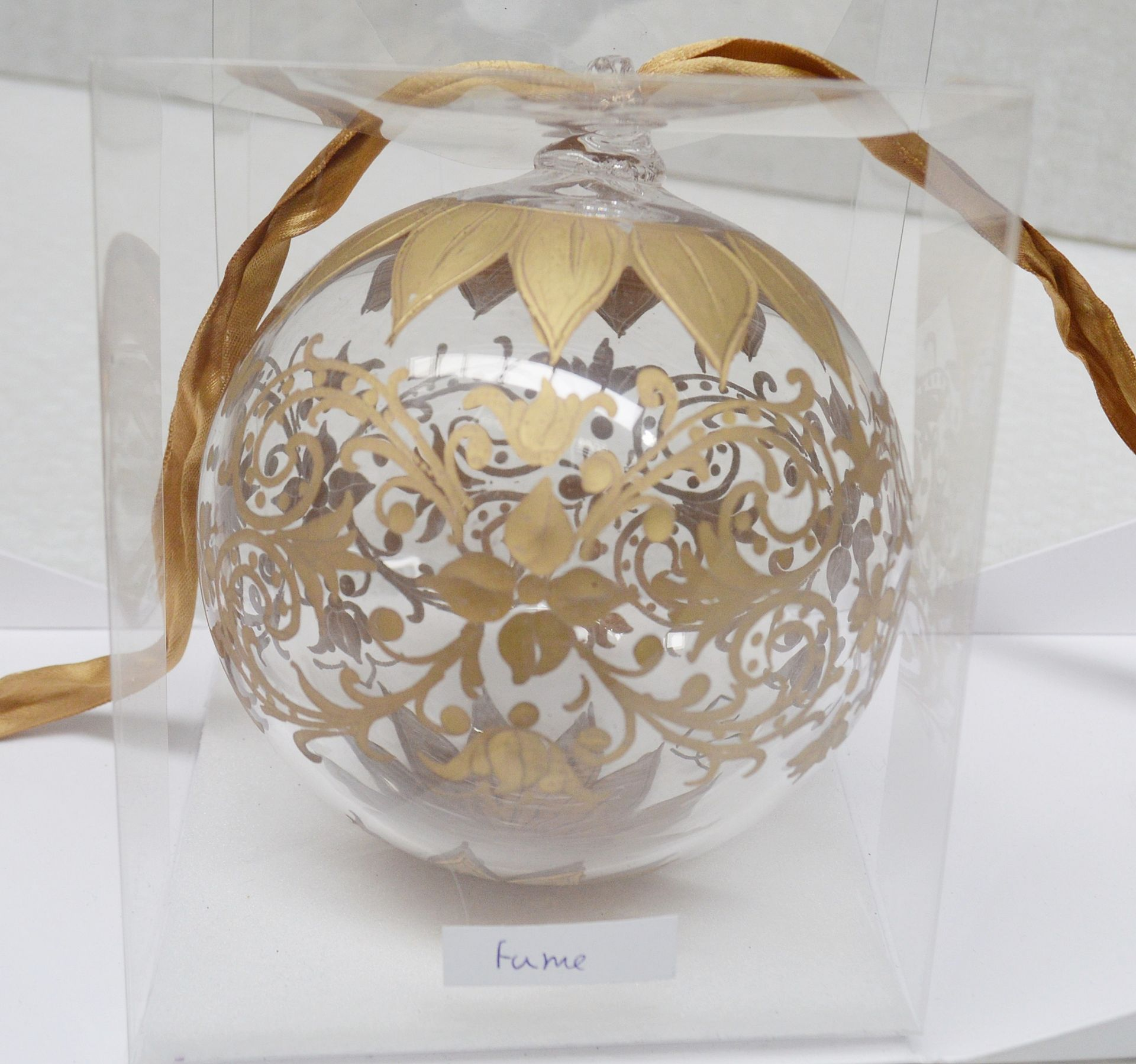 1 x BALDI 'Home Jewels' Italian Hand-crafted Artisan Christmas Tree Decoration In Gold - Dimensions: - Image 4 of 4