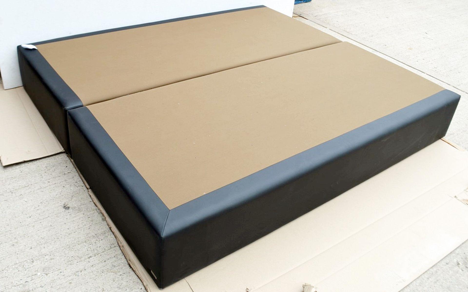 1 x COLUNEX 'Elite' Super Kingsize Divan Bed Base Upholstered In A Grey Leather - RRP £3,008 - Image 6 of 8