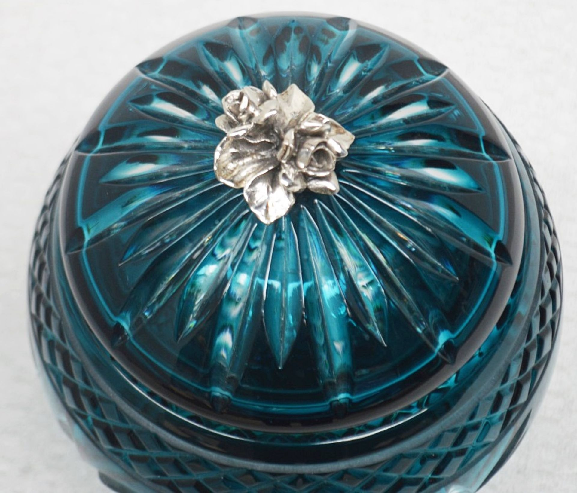 1 x BALDI 'Home Jewels' Italian Hand-crafted Artisan Crystal Coccinella Box In Turquoise - RRP £900 - Image 3 of 5