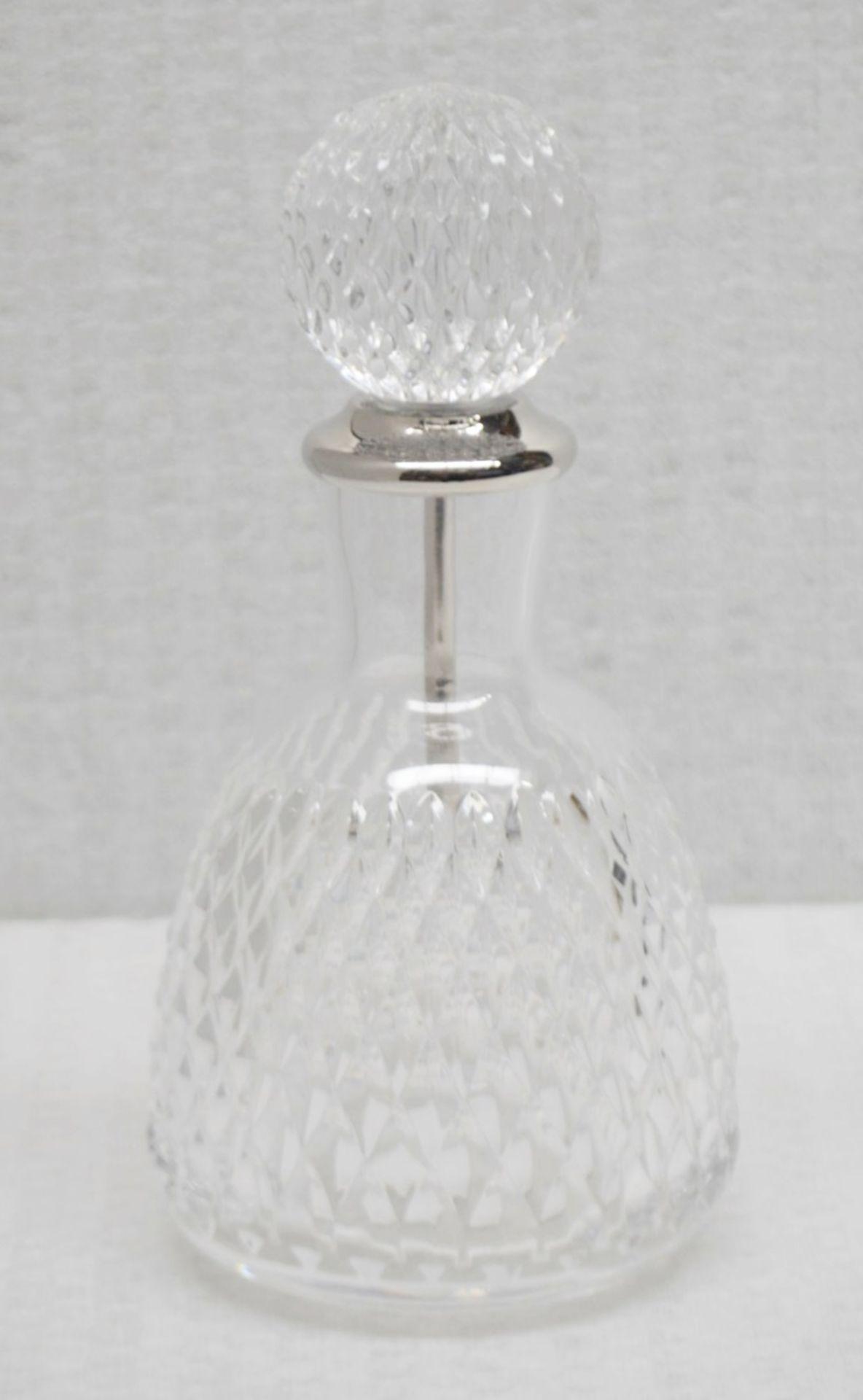 1 x BALDI 'Home Jewels' Italian Hand-crafted Artisan Clear Diamond Crystal Perfume Bottle &