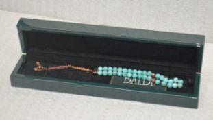 1 x BALDI 'Home Jewels' Italian Hand-crafted Artisan MISBAHA Prayer Beads In Amazonite Gemstone