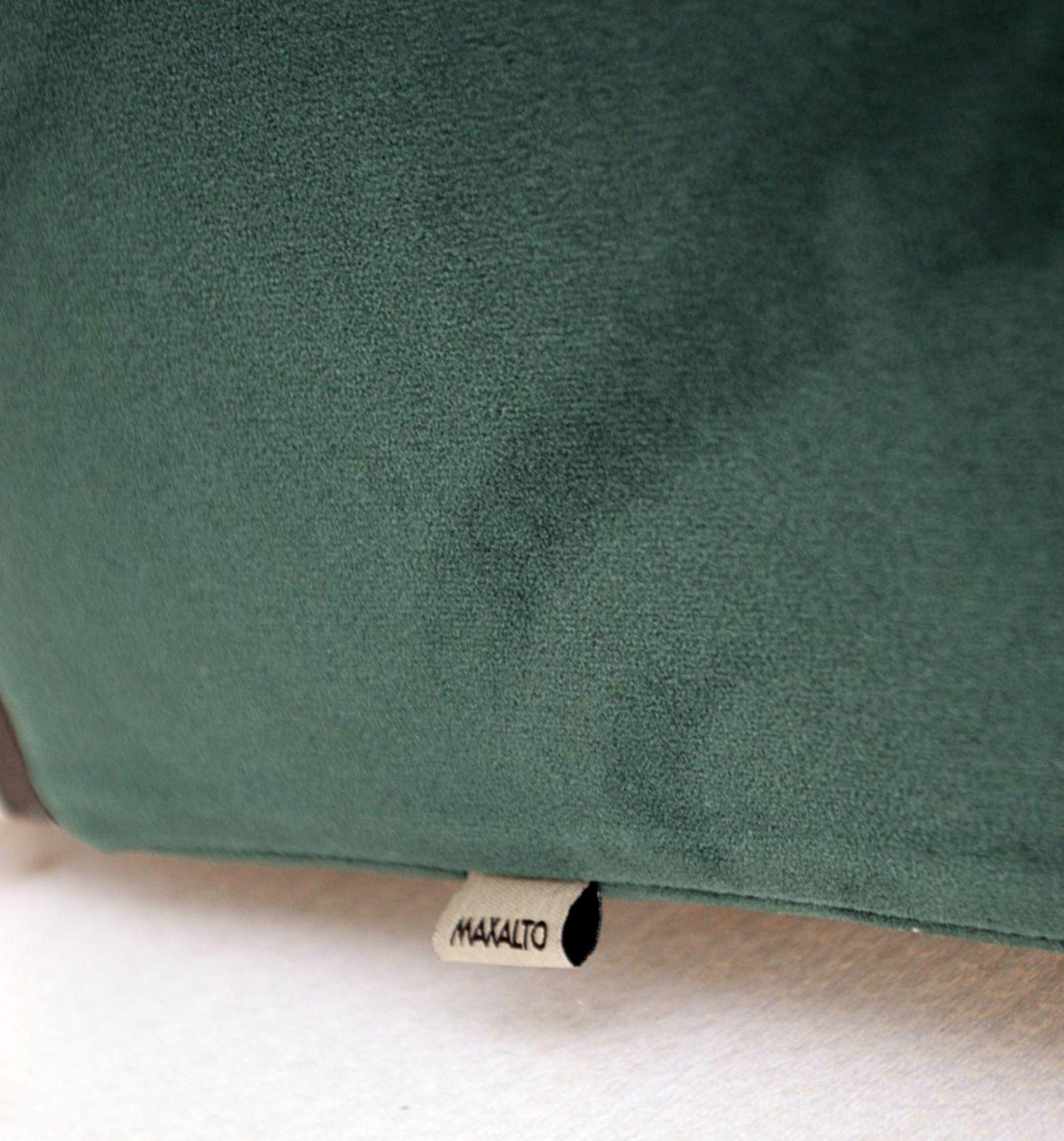 2 x B&B Italia MAXALTO Luxury Sofa Sections Both Upholstered In Rich Dark Green Velvet - RRP £7,248 - Image 3 of 13