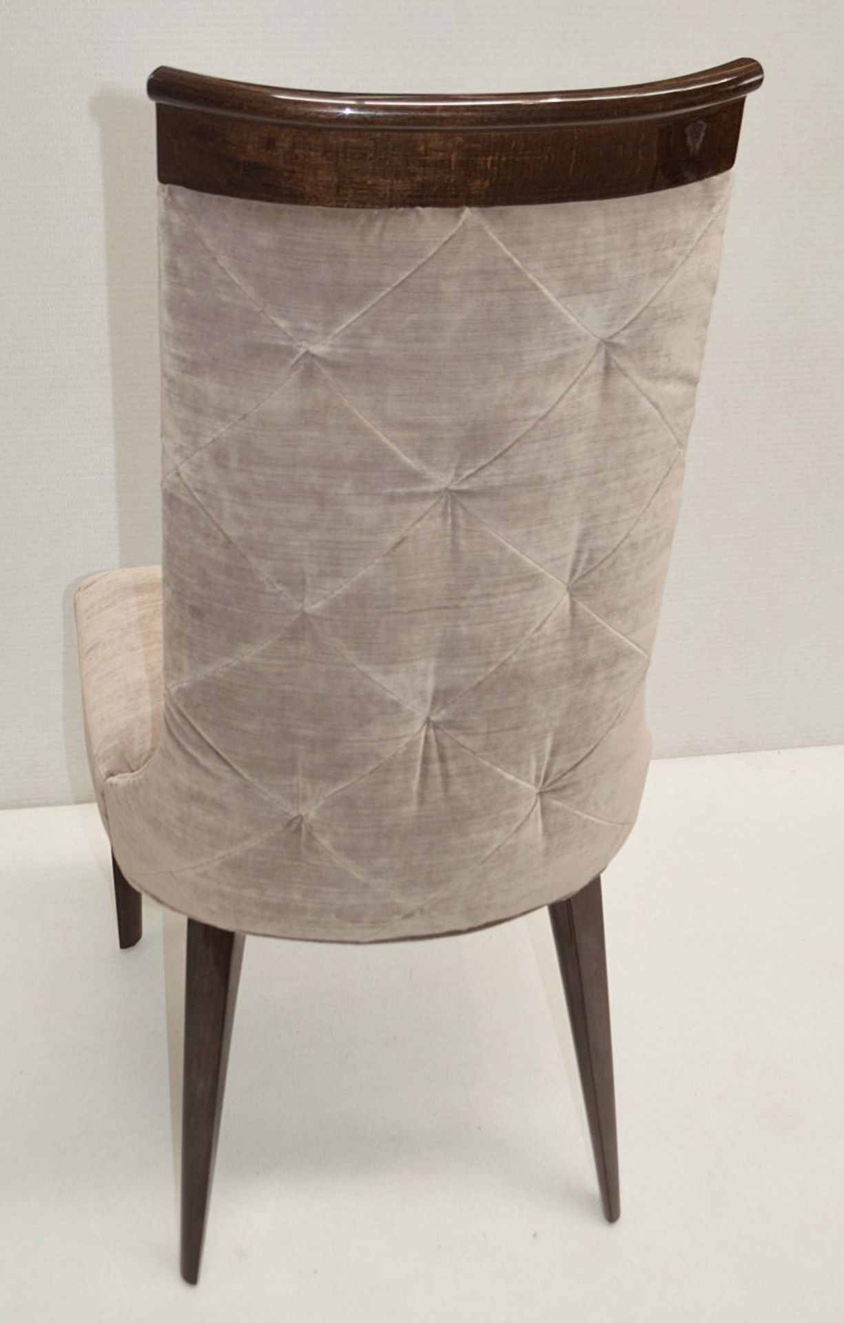 4 x GIORGIO Coliseum Velvet Upholstered Button Back Side Chairs With A Brazilian Rosewood Finish - - Image 3 of 11