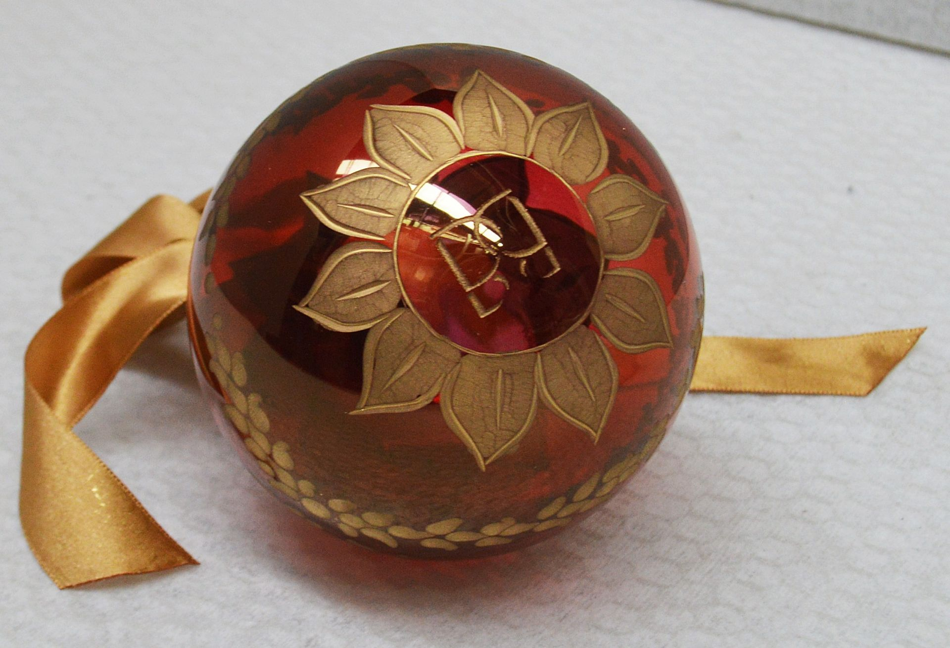 1 x BALDI 'Home Jewels' Italian Hand-crafted Artisan Christmas Tree Decoration In Red And Gold - - Image 3 of 5