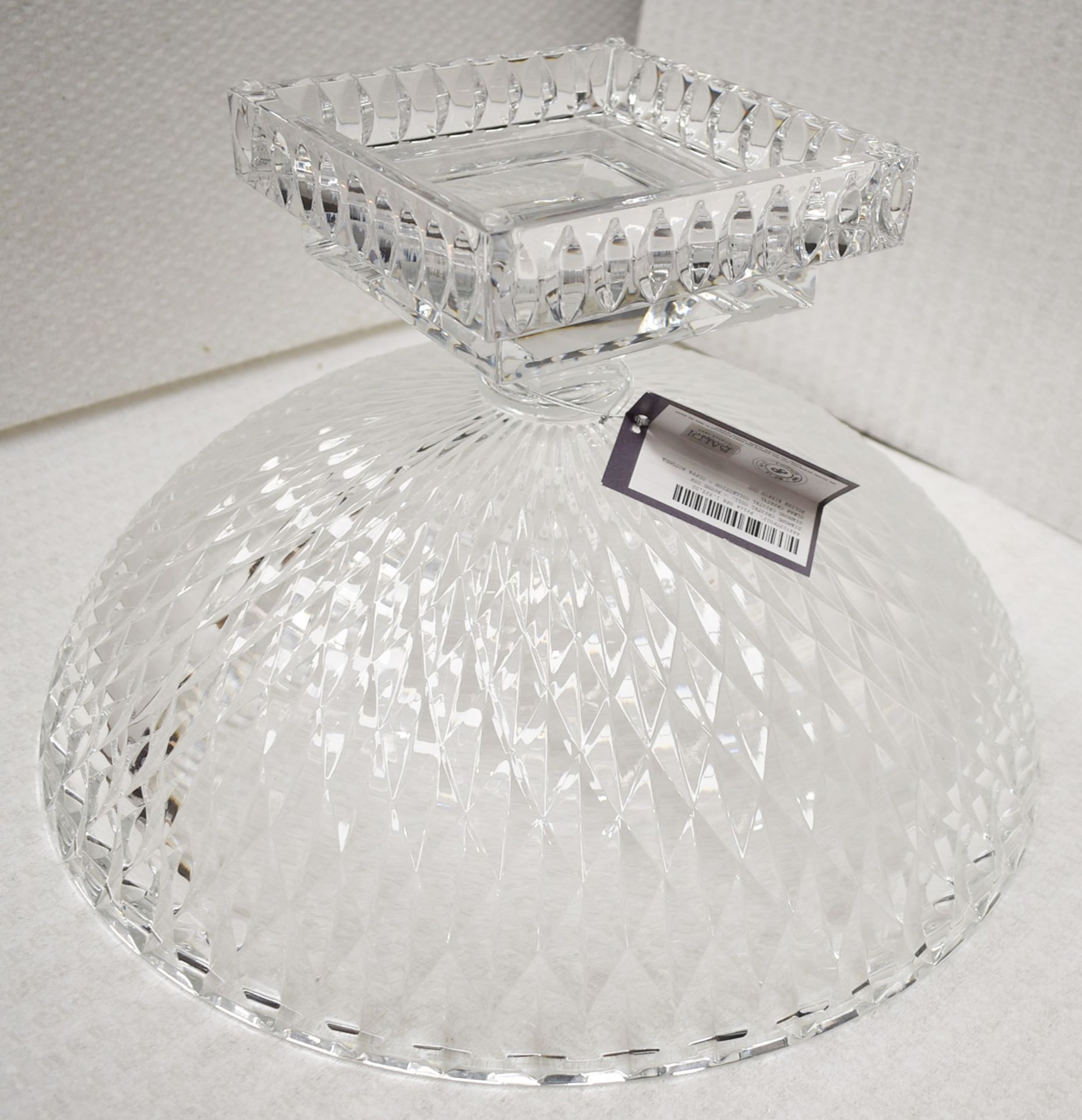 1 x BALDI 'Home Jewels' Italian Hand-crafted Artisan Large Round Clear Crystal Bowl - RRP £1,925 - Image 2 of 4