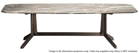 1 x POLTRONA FRAU 'Othello' Fior Di Pesco 2.6 Metre Long Marble Table Top - Dimensions: 260x100cm