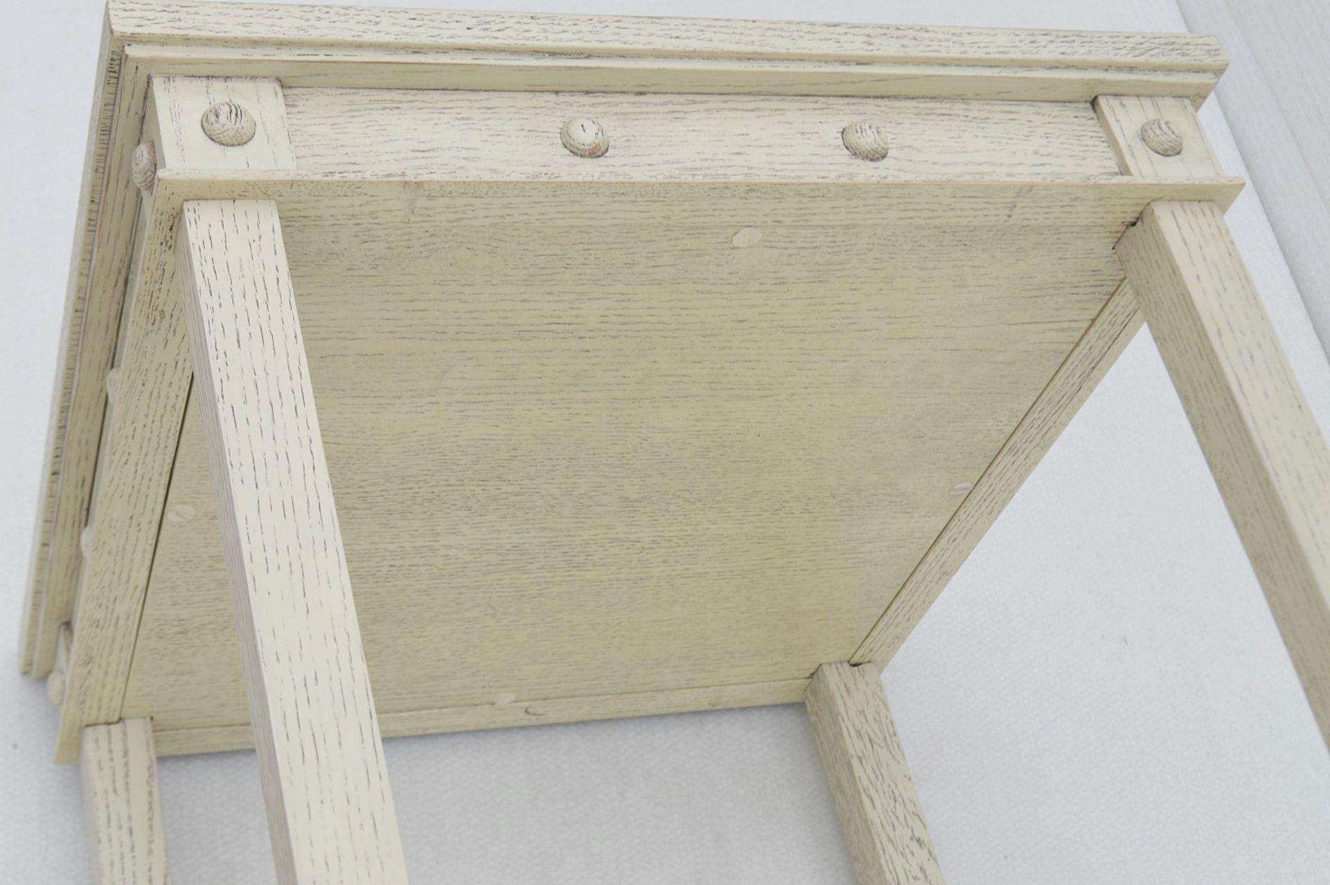1 x JUSTIN VAN BREDA 'Thomas' Designer Georgian-inspired Table In Limed Grey Oak - RRP £1,320 - Image 5 of 6