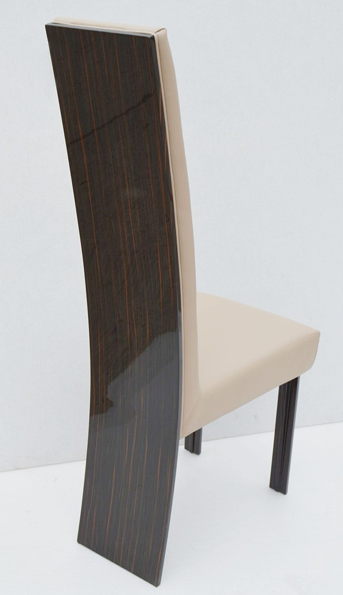 A Pair Of REFLEX 'New York-2' Designer Leather Upholstered High-back Chairs - Original RRP £2,578 - Image 2 of 8