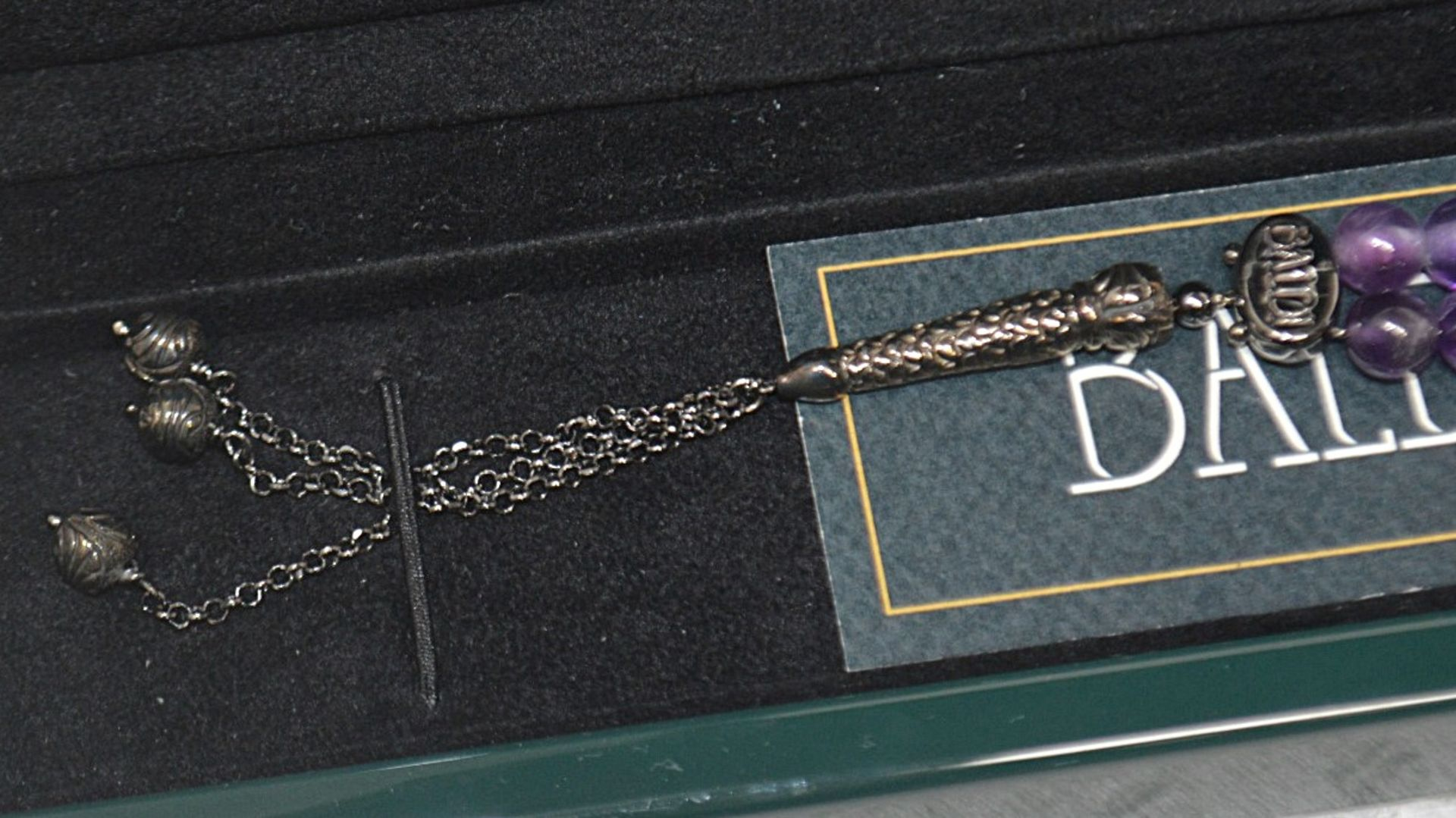 1 x BALDI 'Home Jewels' Italian Hand-crafted Artisan MISBAHA Prayer Beads In Amethyst Gemstone And - Image 4 of 7