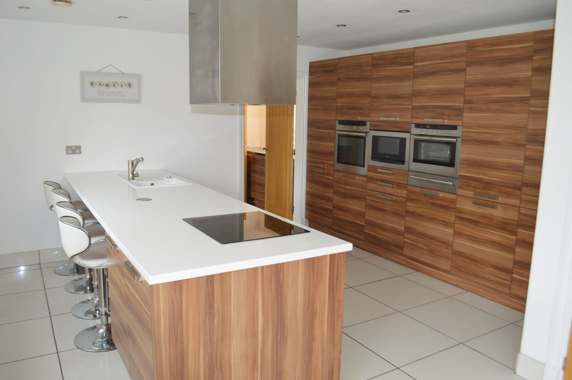1 x Contemporary Bespoke Fitted Kitchen With Integrated Neff Branded Appliances, Quartz Worktops - Image 50 of 52