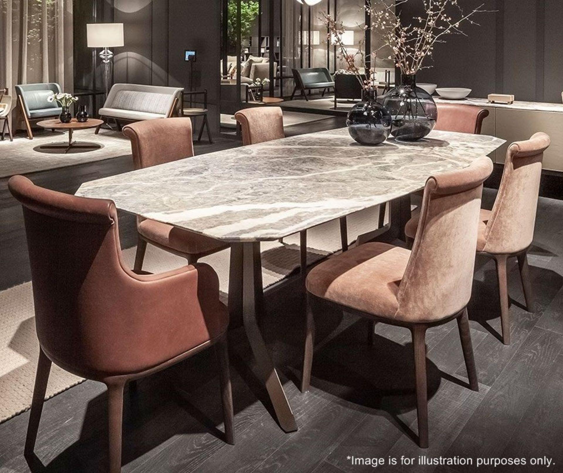 1 x POLTRONA FRAU 'Othello' Fior Di Pesco 2.6 Metre Long Marble Table Top - Dimensions: 260x100cm - Image 3 of 6