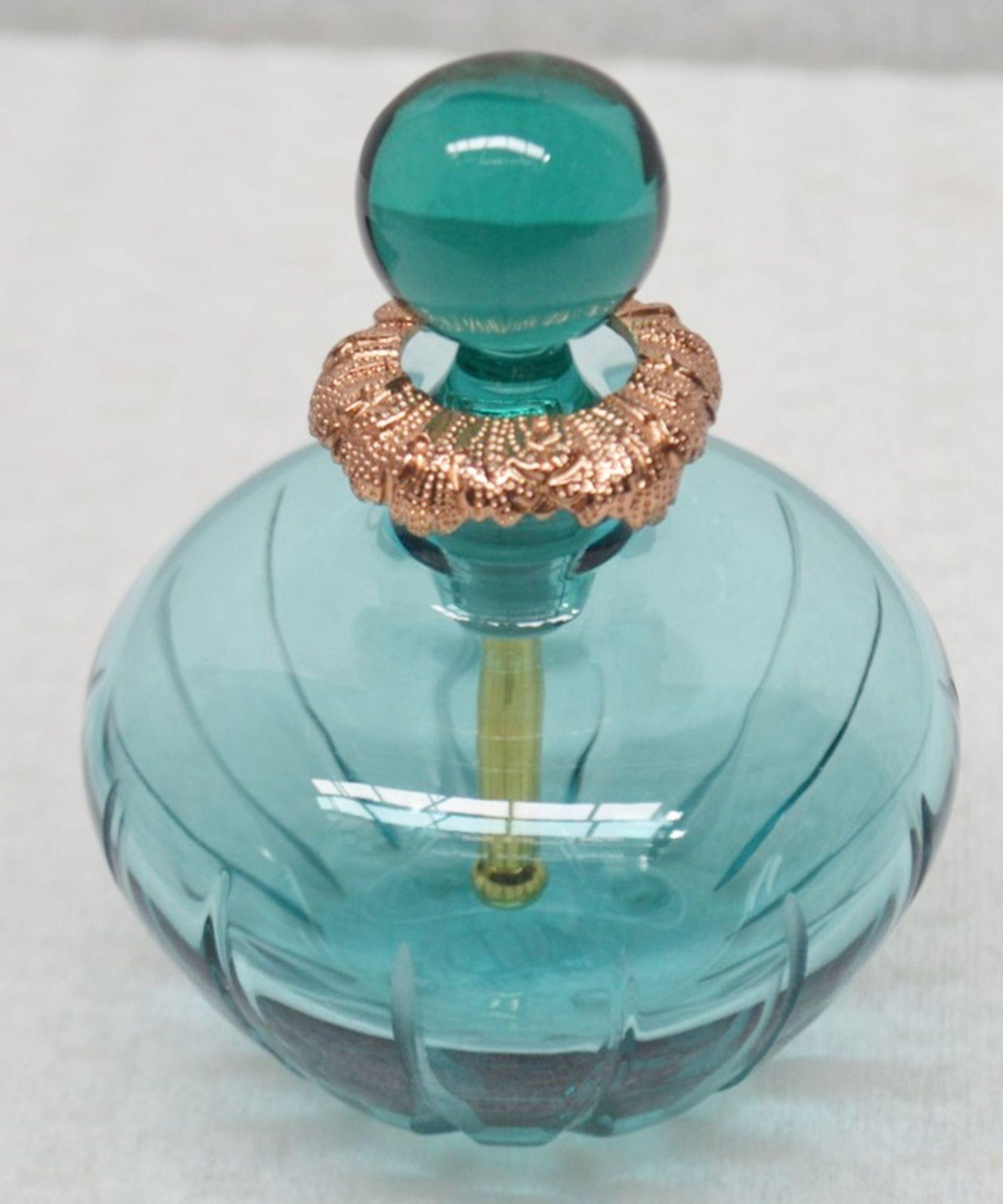1 x BALDI 'Home Jewels' Italian Hand-crafted Artisan Ottanio Crystal Perfume Bottle & Stick -