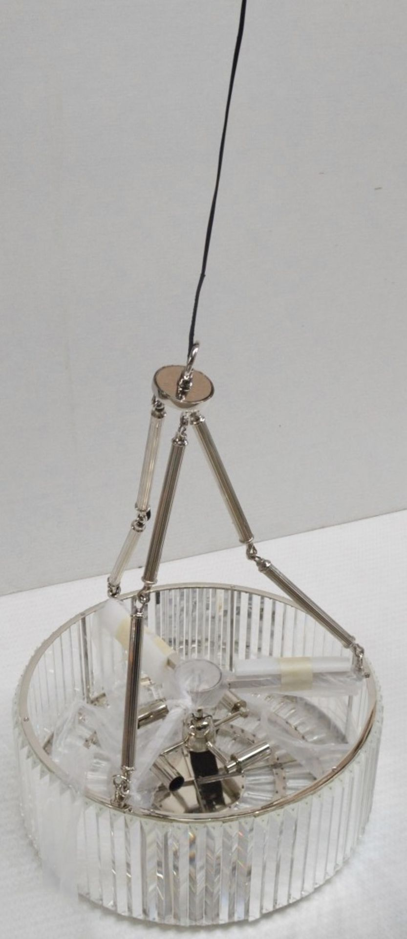 1 x EICHHOLTZ 'Infinity' Art Deco-style Chandelier Featuring Glass Crystal Rods - RRP £1,390 - Image 4 of 10