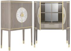 1 x FRATO 'Seville'Luxury Designer 2-Door Tall Cabinet With A High Gloss Finish - RRP £7,968