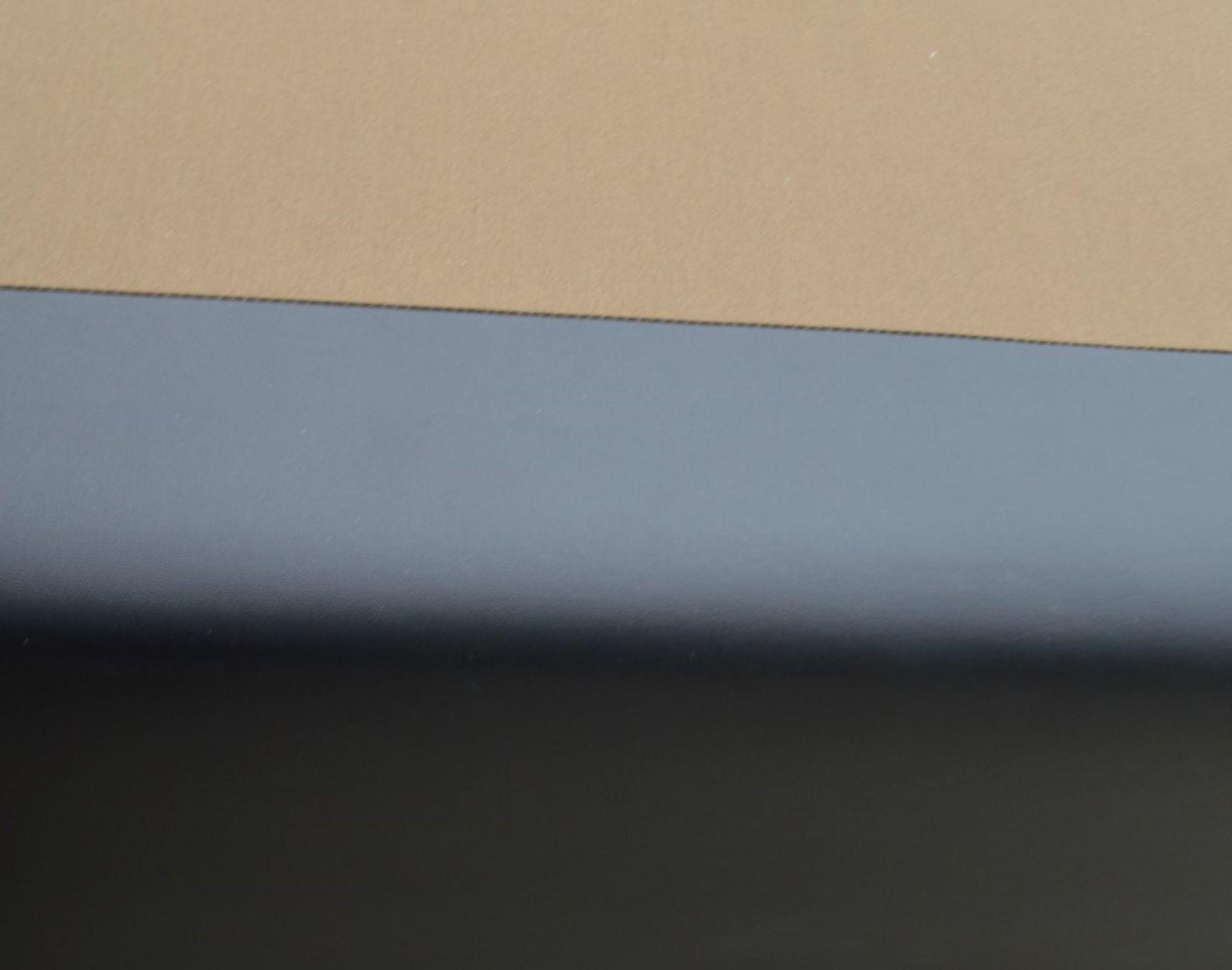 1 x COLUNEX 'Elite' Super Kingsize Divan Bed Base Upholstered In A Grey Leather - RRP £3,008 - Image 5 of 8