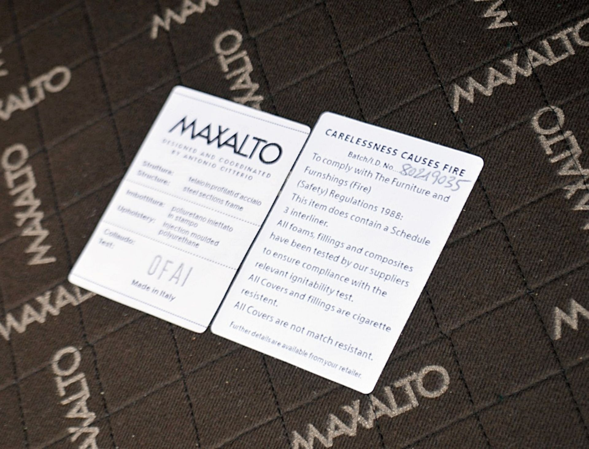 2 x B&B Italia MAXALTO Luxury Sofa Sections Both Upholstered In Rich Dark Green Velvet - RRP £7,248 - Image 6 of 13